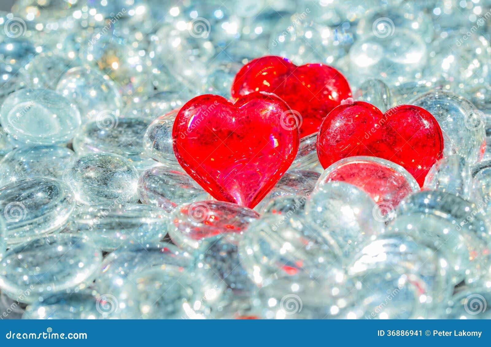 Download Crystal Heart immagine stock. Immagine di cristallo, renda - 36886941