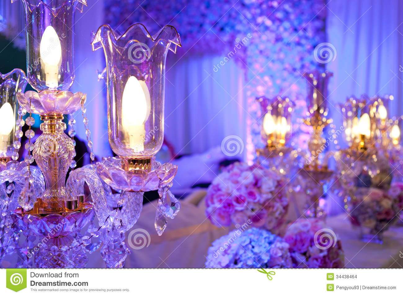 crystal decorations for weddings lighting stock photo image of violet 3207