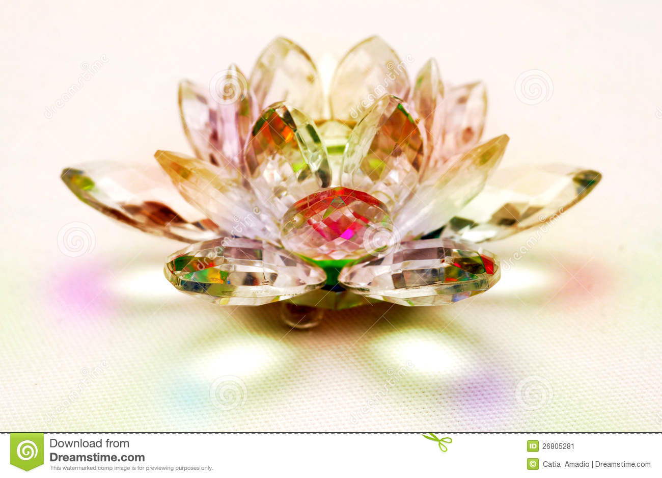 Crystal Lotus Flower Stock Image Image Of Decorative 26805281