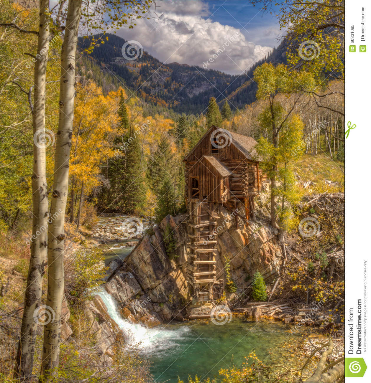 Crystal Mill, or Old Mill is an 1892 wooden powerhouse located on an ...