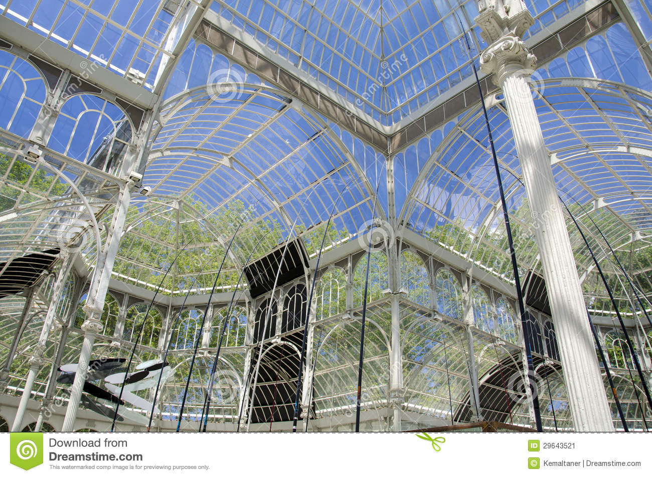 Crystal Palace In Madrid Stock Image Image 29643521