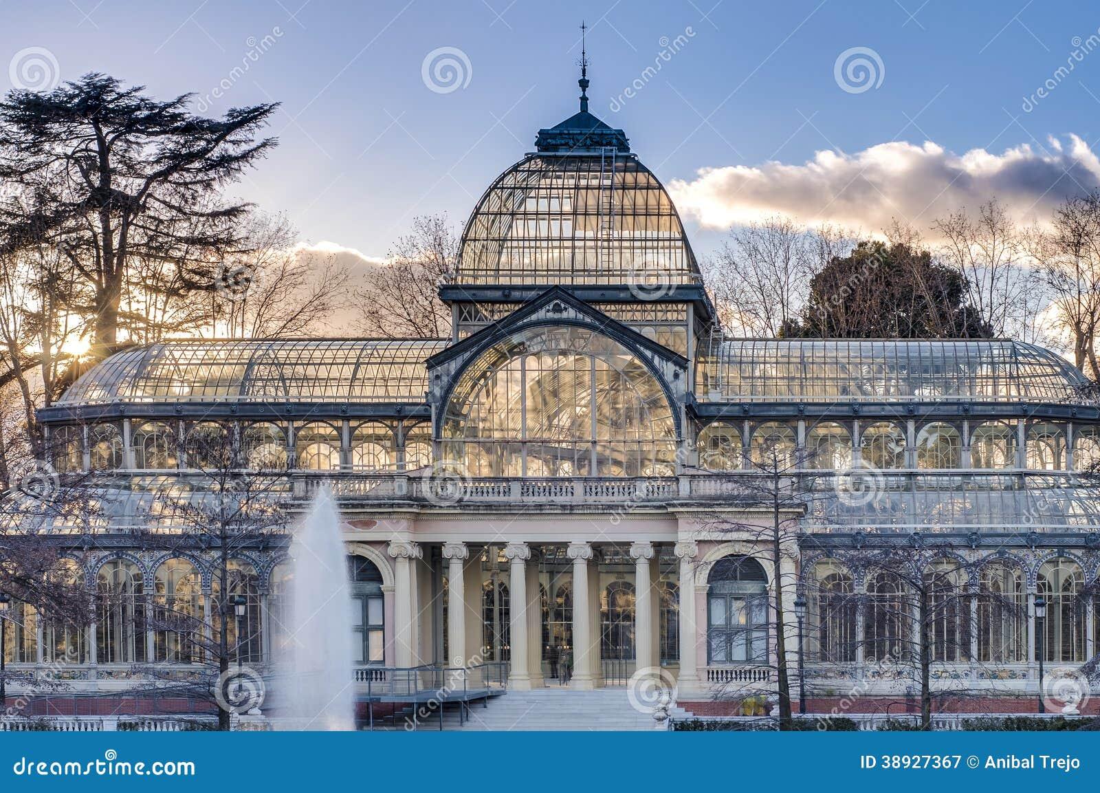 Royalty Free Stock Photography Crystal Palace Retiro Park Madrid Spain ...
