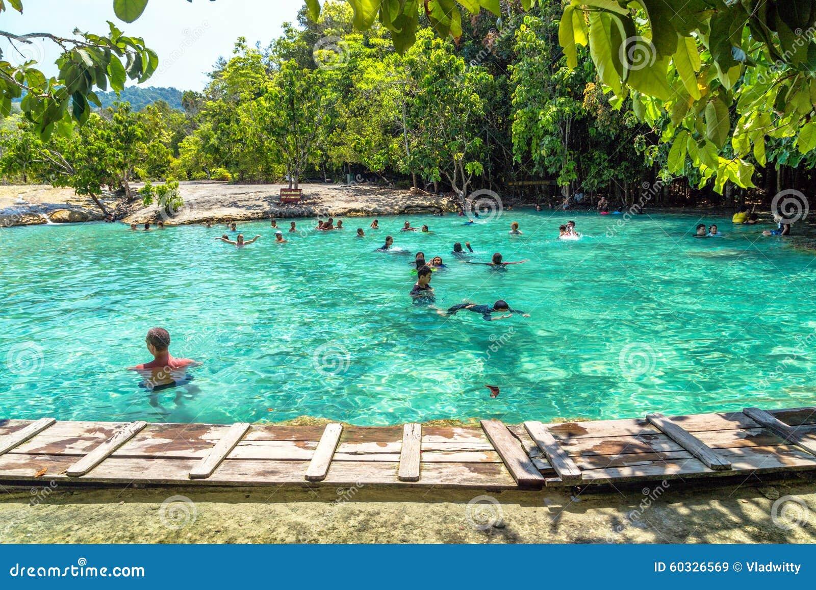 Crystal Pool And Crystal Lagoon KRABI Editorial Stock Image ...