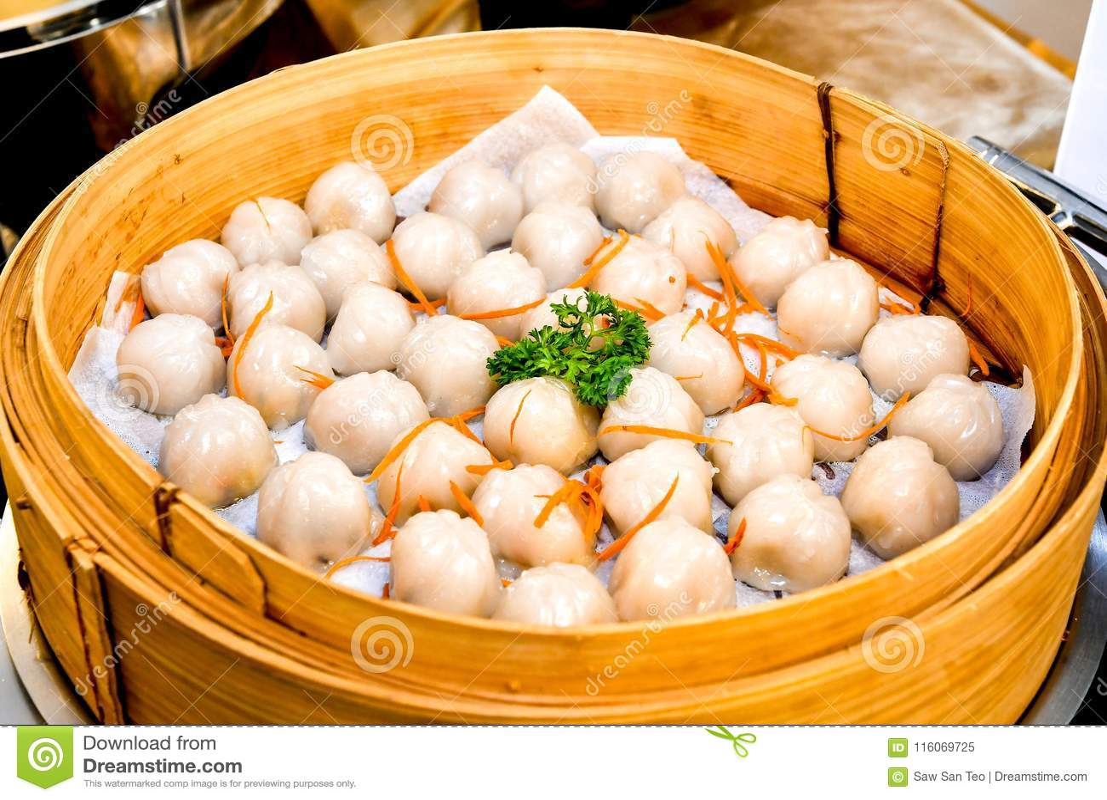 Crystal Skin Dumplings cocido al vapor