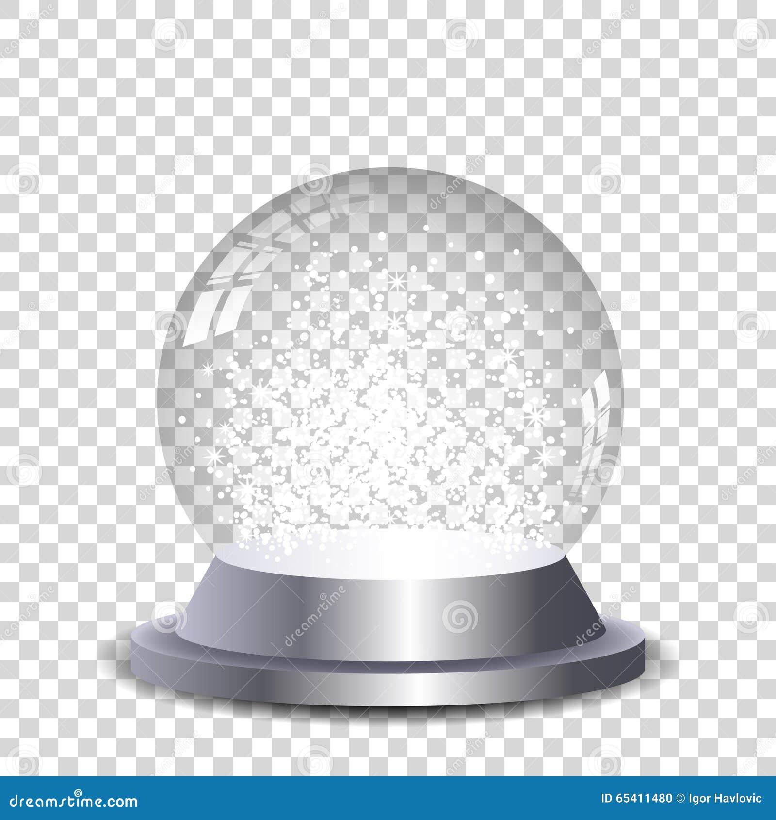 Crystal snöjordklot för silver som är genomskinligt och isoleras