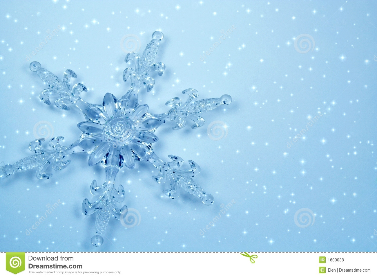 Clipart Snowflake Background