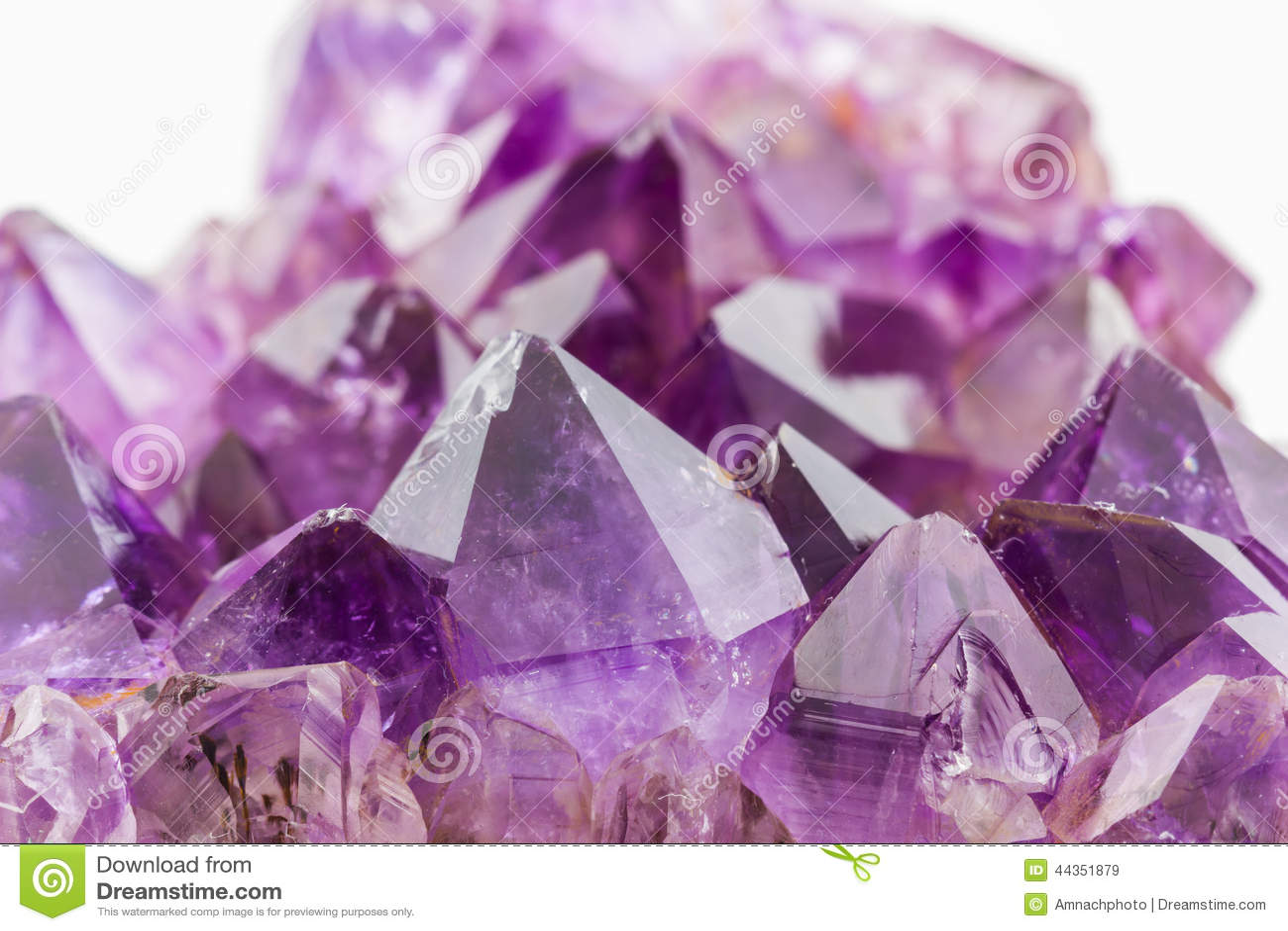 Crystal Stone, cristalli ametisti ruvidi porpora