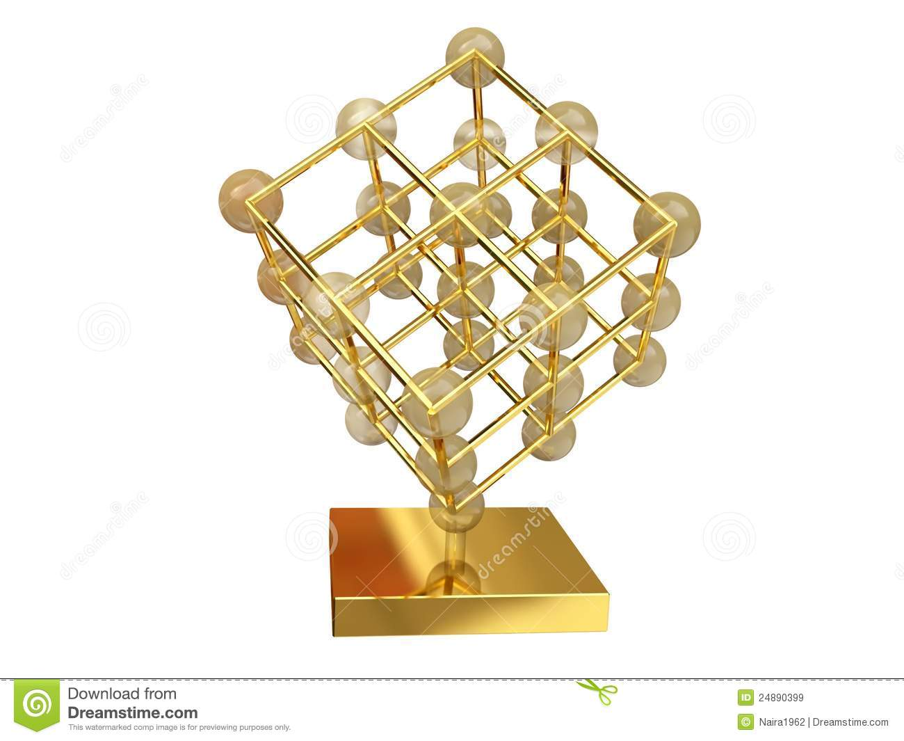 Crystal Structure In 3d Stock Illustration Illustration Of