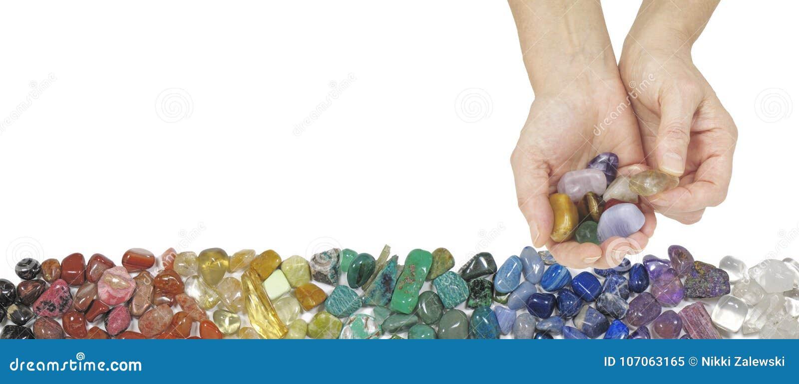 Crystal Therapist Offering een citroengele getuimelde steen