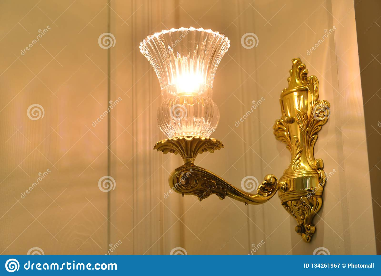 Wall Fitting Bracket Light Wall Lamp Stock Image Image Of Design Building 134261967