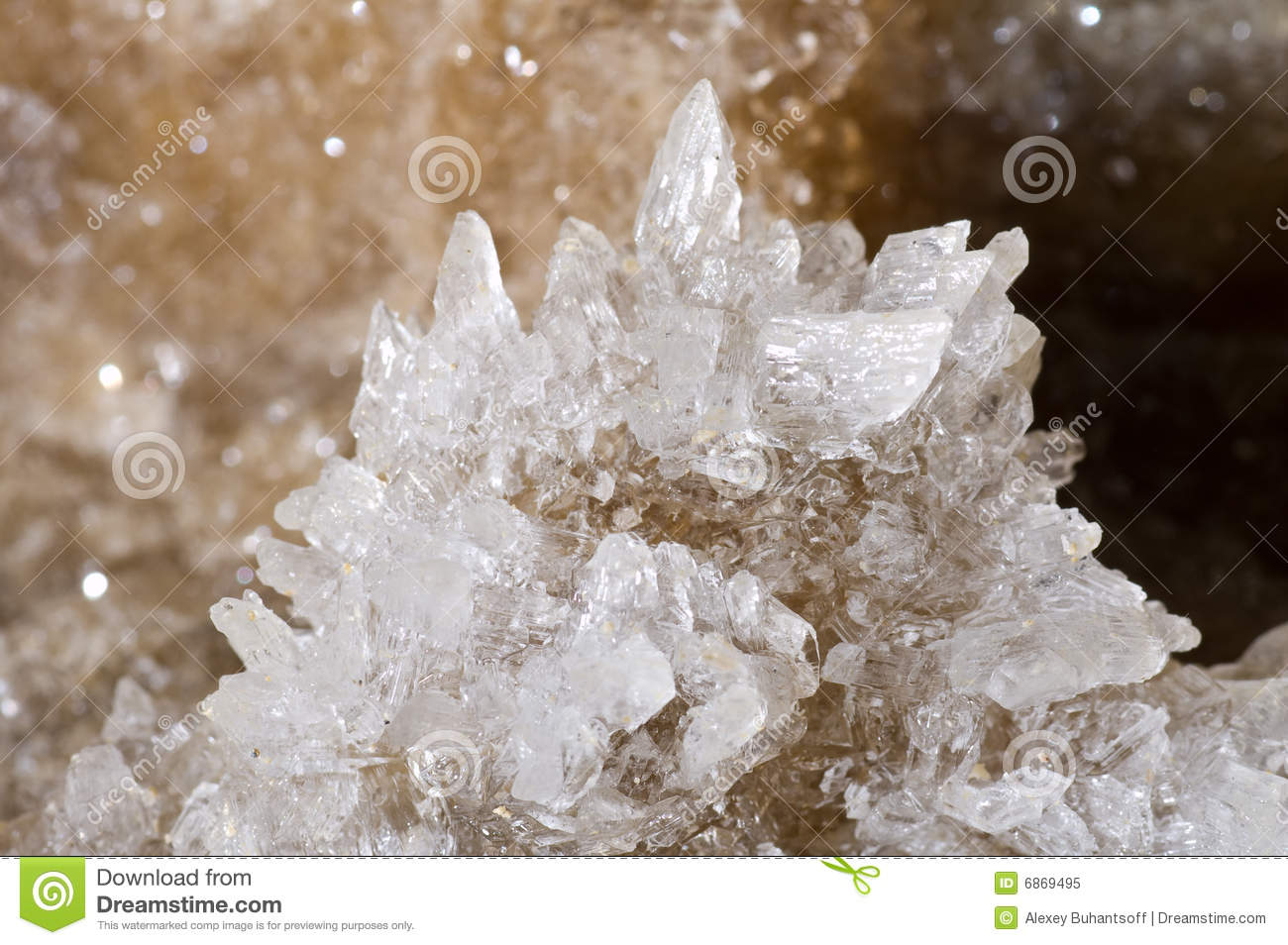 Crystals of gypsum