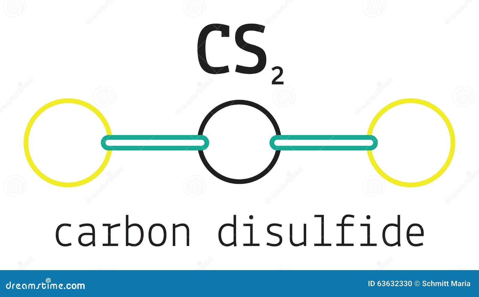 Cs2 Carbon Disulfide Molecule Stock Vector Illustration Of