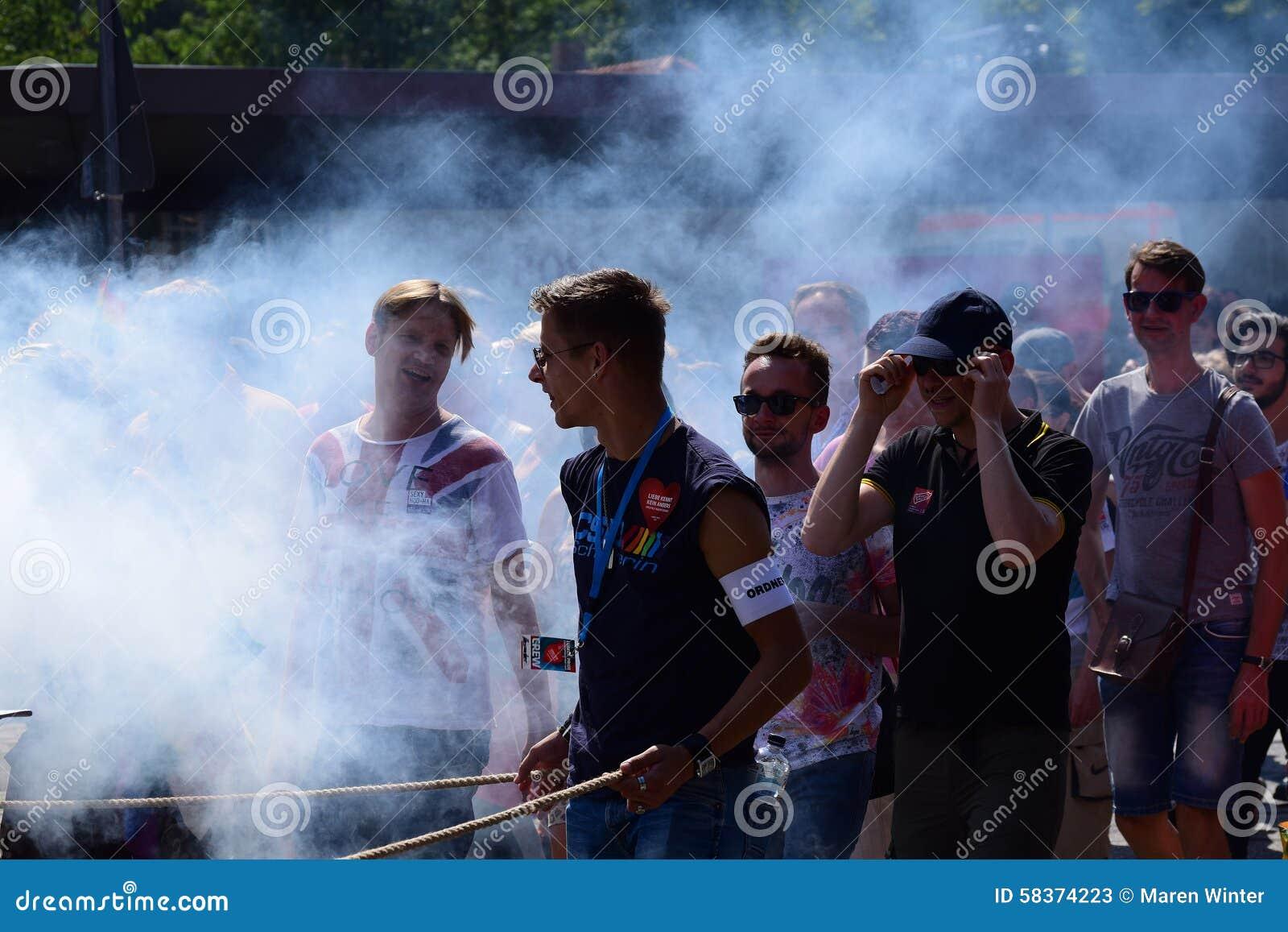 CSD, Gay Pride Parade 2015 In Luebeck, Germany, , Happy
