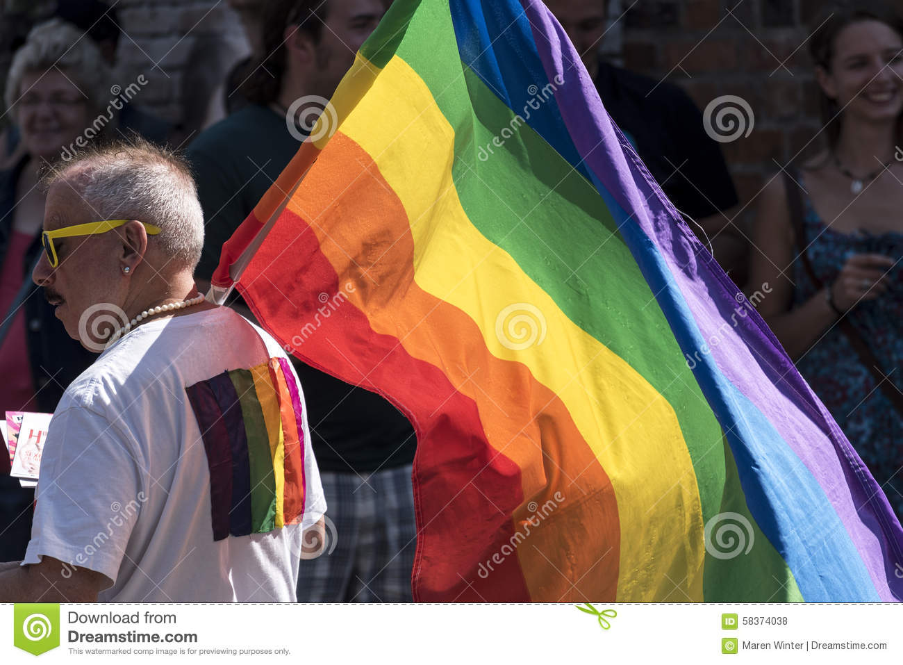 CSD, Gay Pride Parade 2015 In Luebeck, Germany, Man With