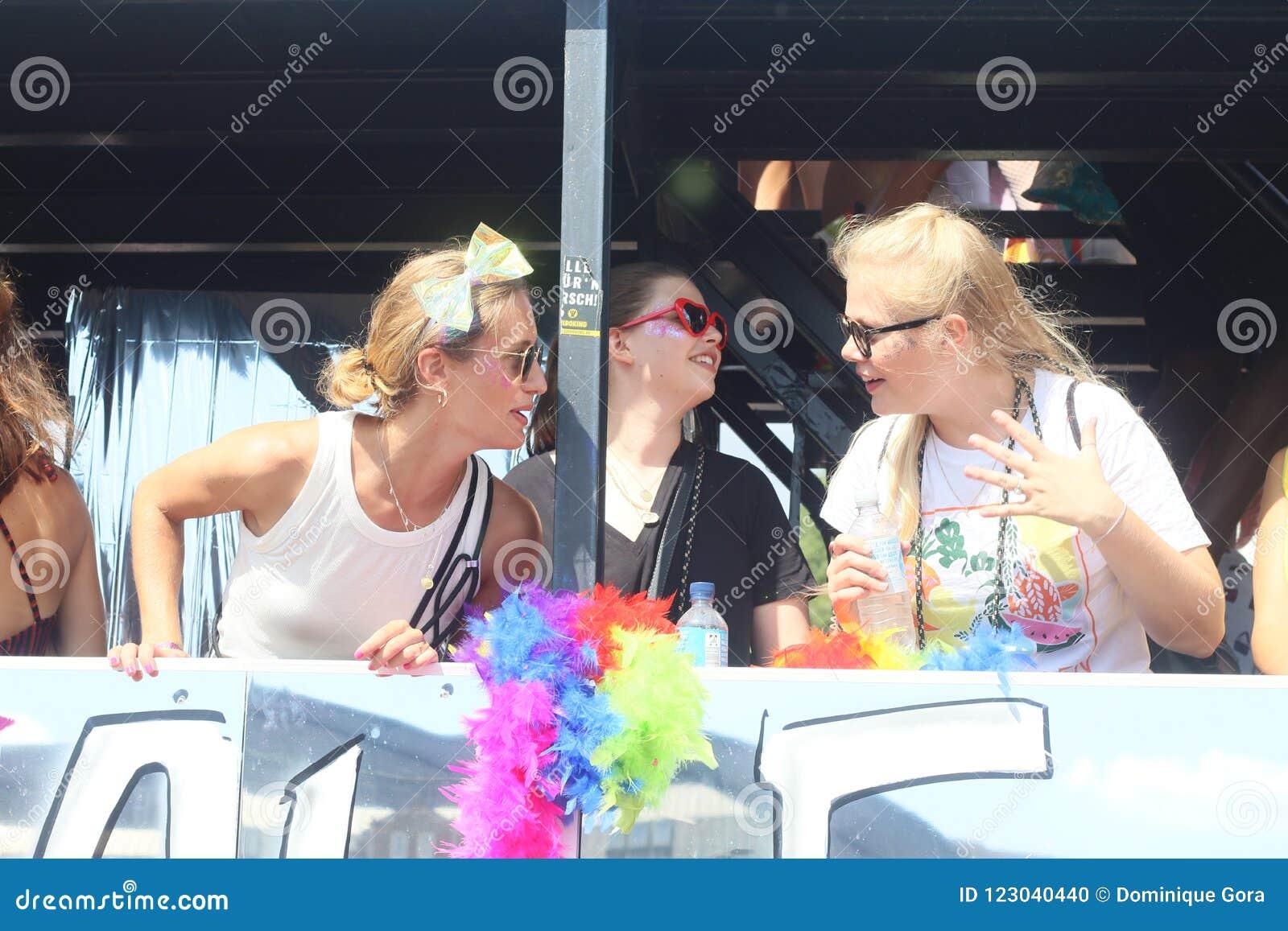 CSD Parade 2018 Hamburg, Germany LGBTIQ Demo Editorial ...