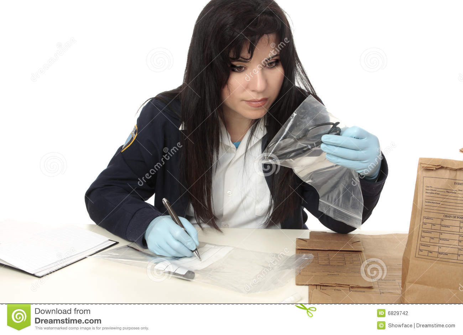 CSI documenting evidence