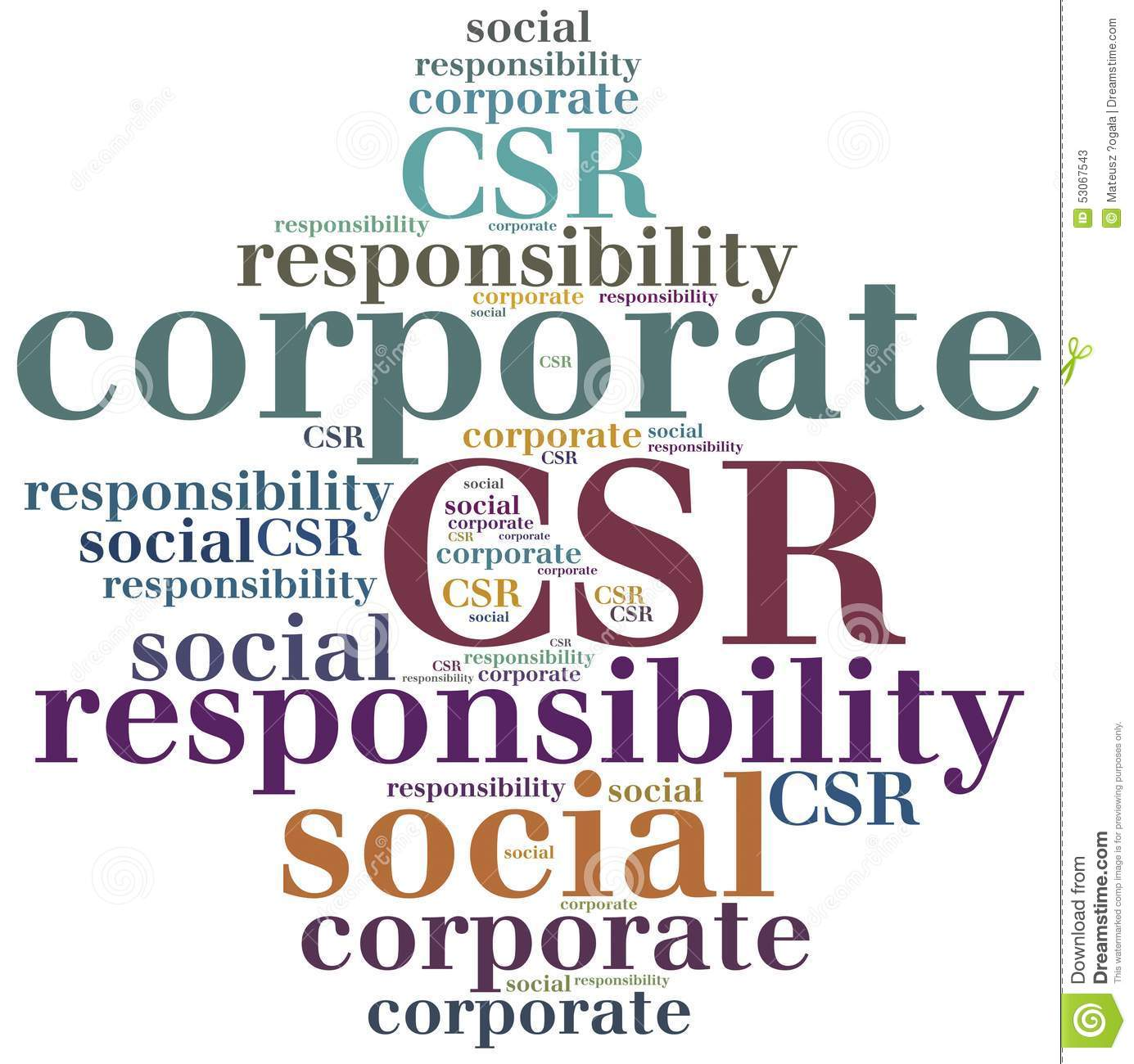 CSR. Corporate Social Responsibility. Stock Illustration ...