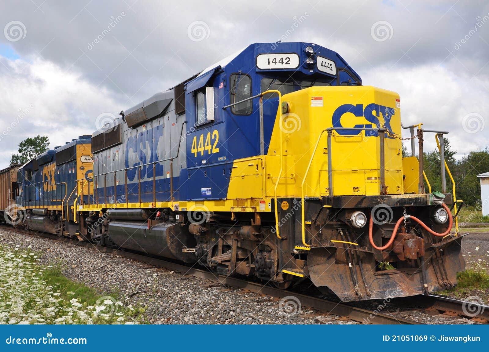 CSX Diesel Locomotive editorial stock image  Image of travel