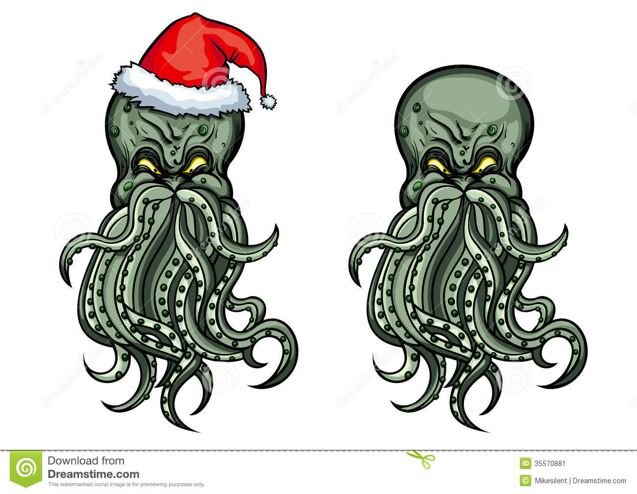 Evil octopus cartoon - photo#26