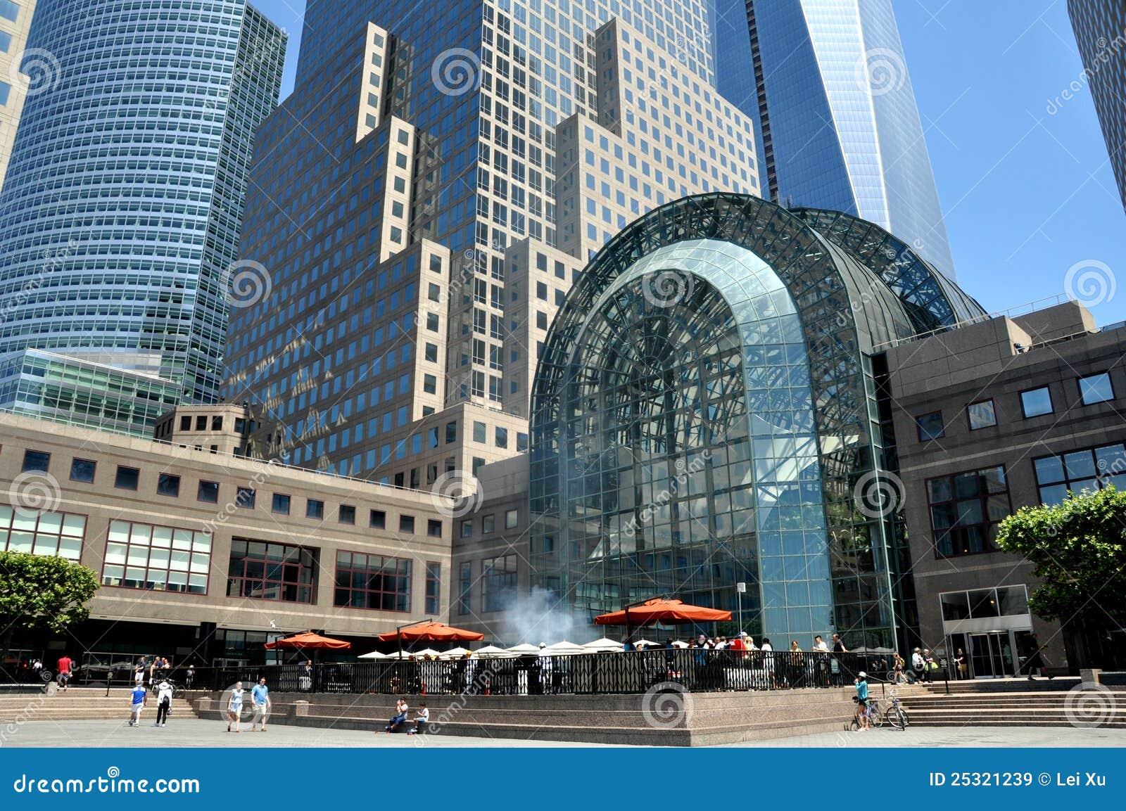 Ctr财务庭院nyc广场冬天世界