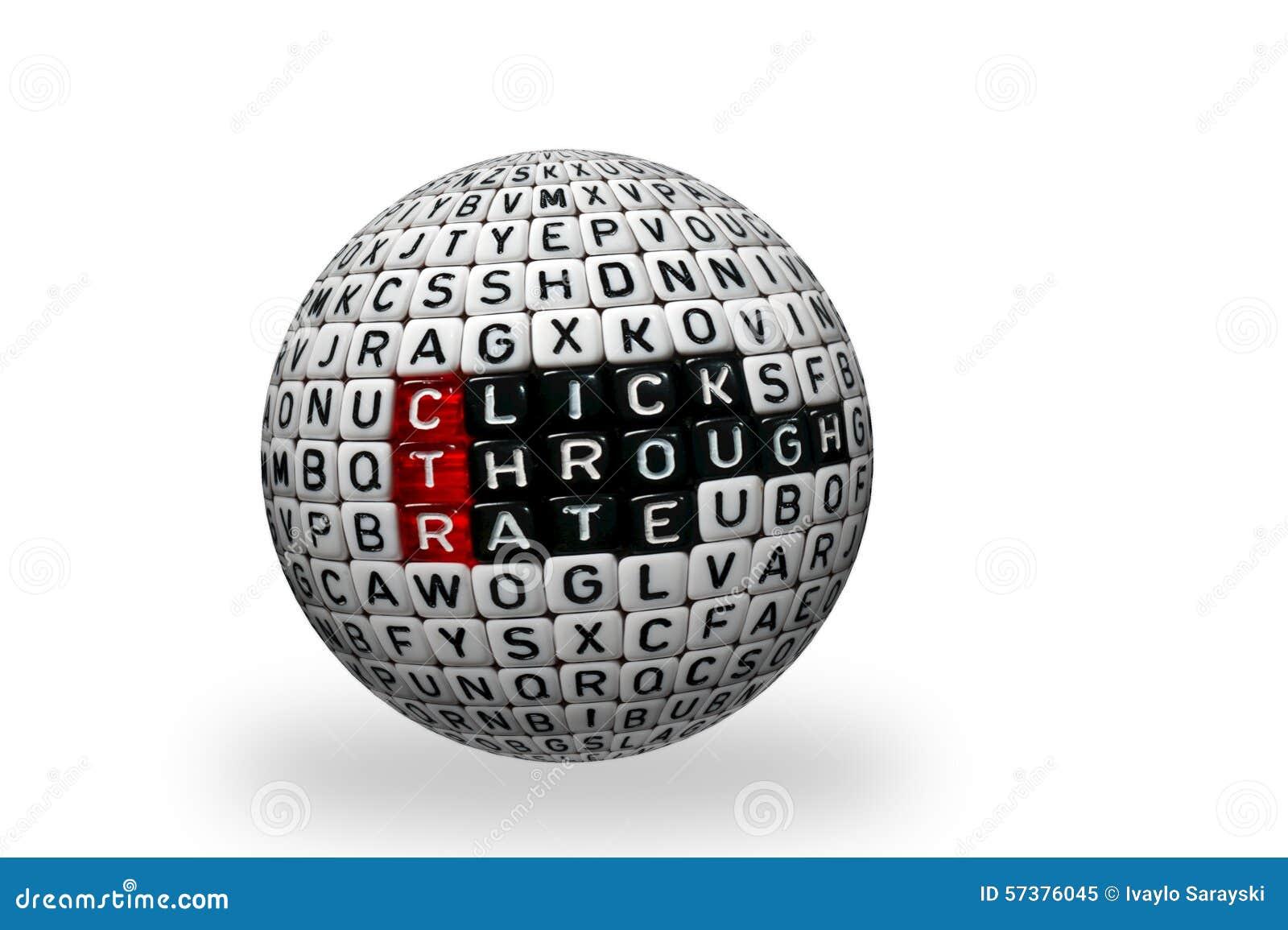 CTR klikt de zwarte 3d bal van het Trogtarief