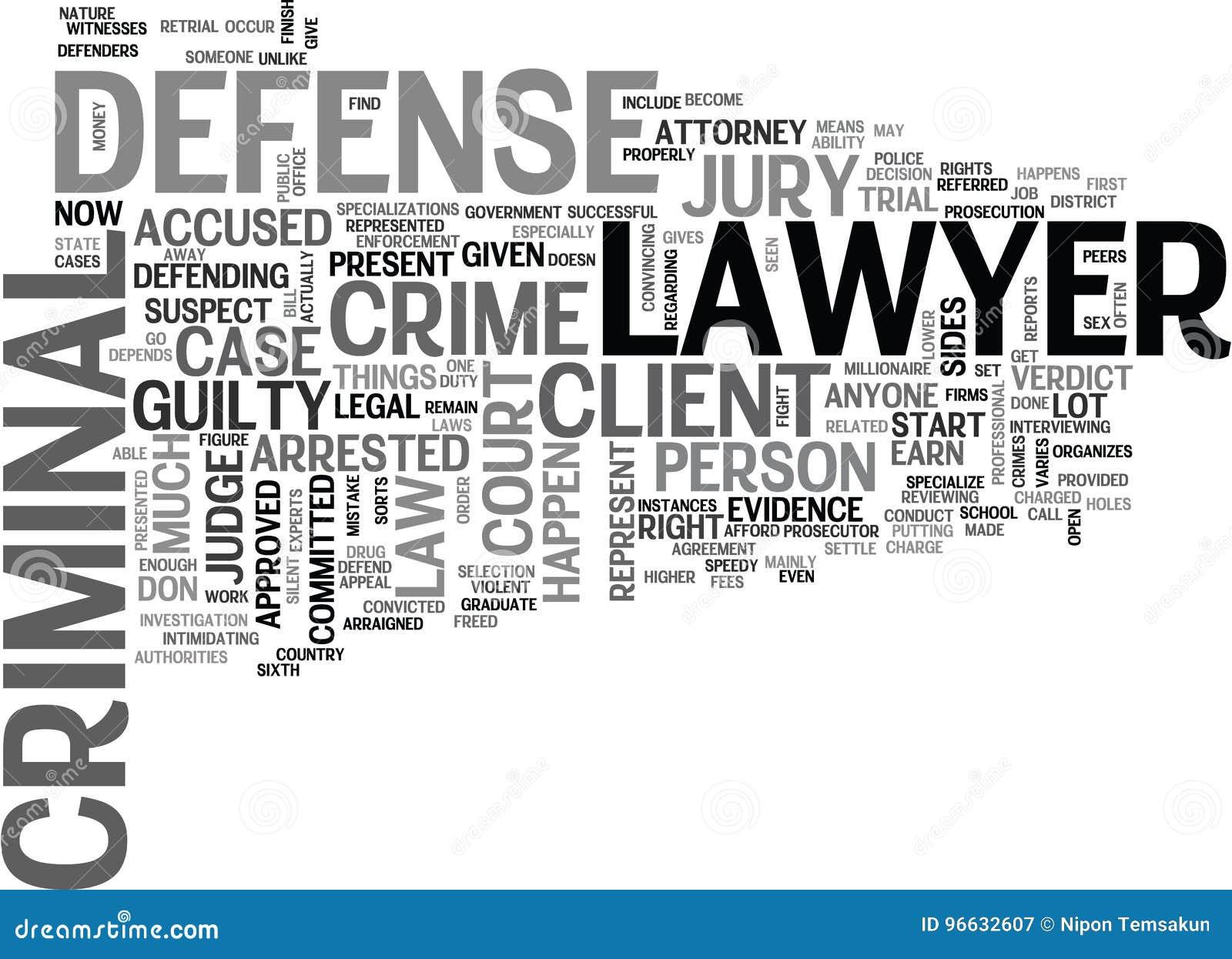 Cuál es abogado defensor criminal Word Cloud