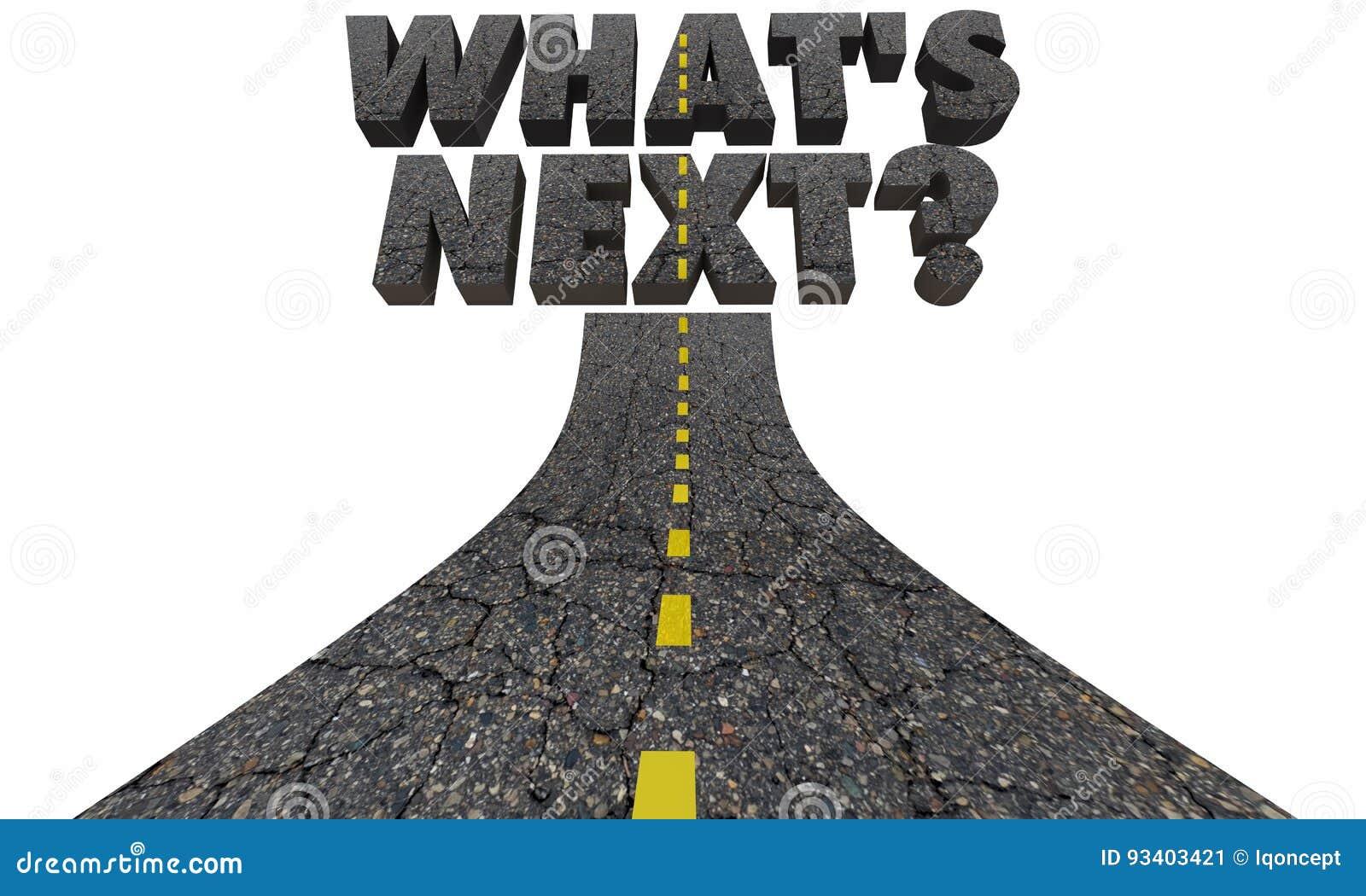 Cuál es curso siguiente del futuro del camino de la pregunta
