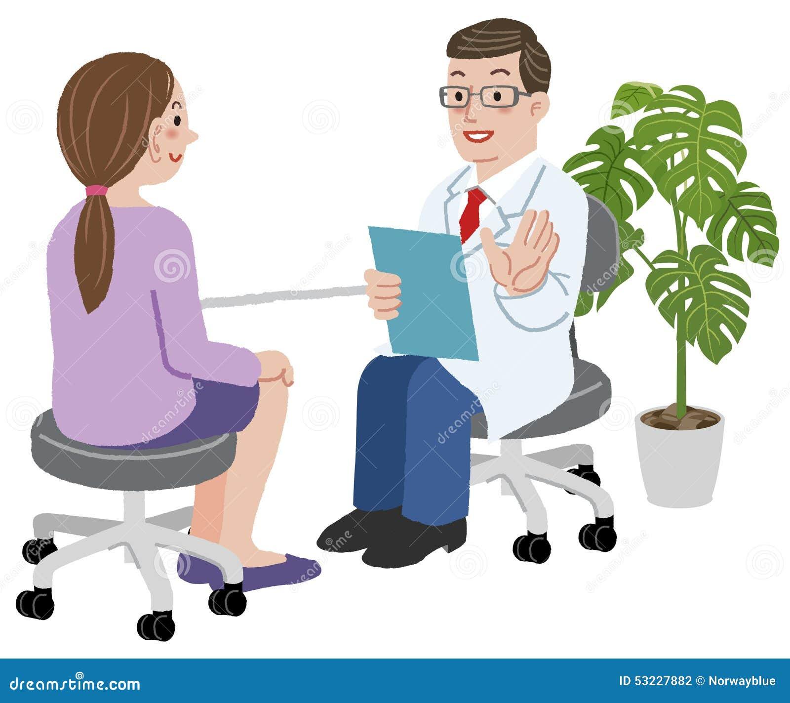 Cuídese y su paciente femenino en su oficina