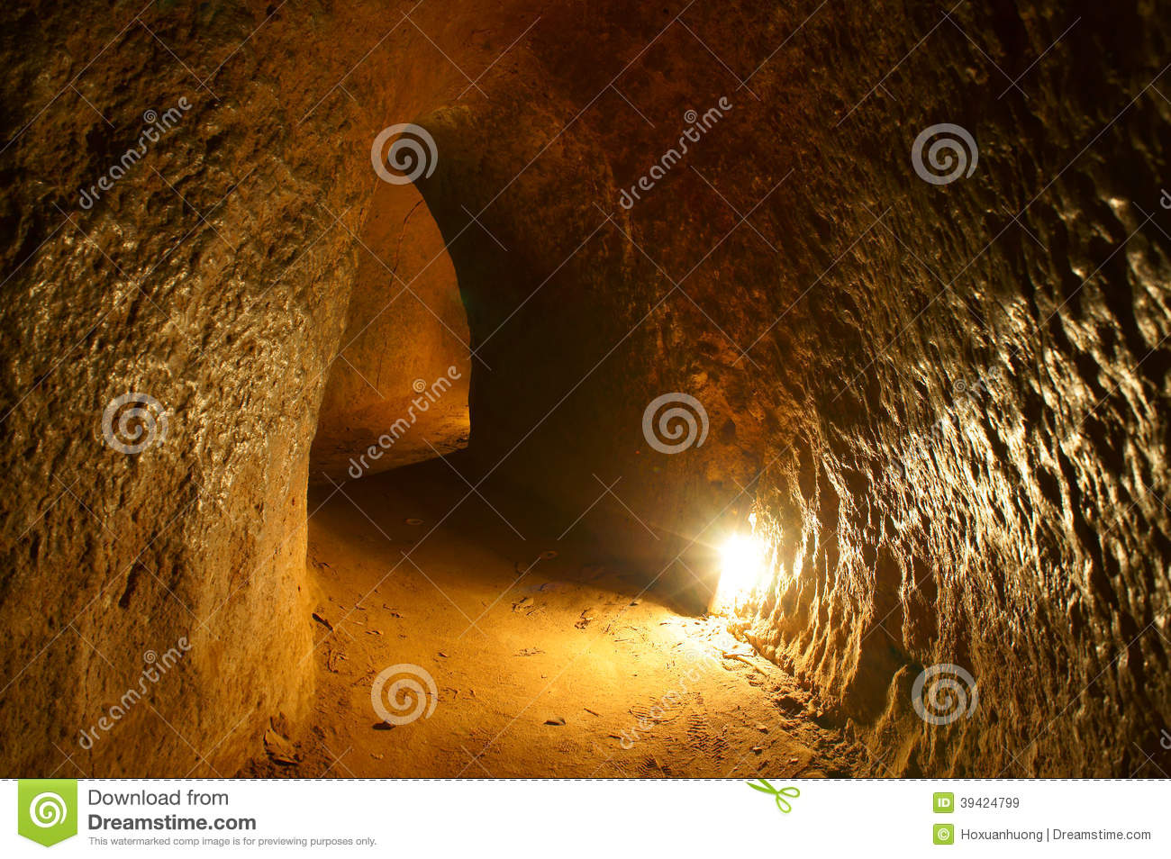 Cu Chi Tunnel With Underground Dugout Stock Photo Image