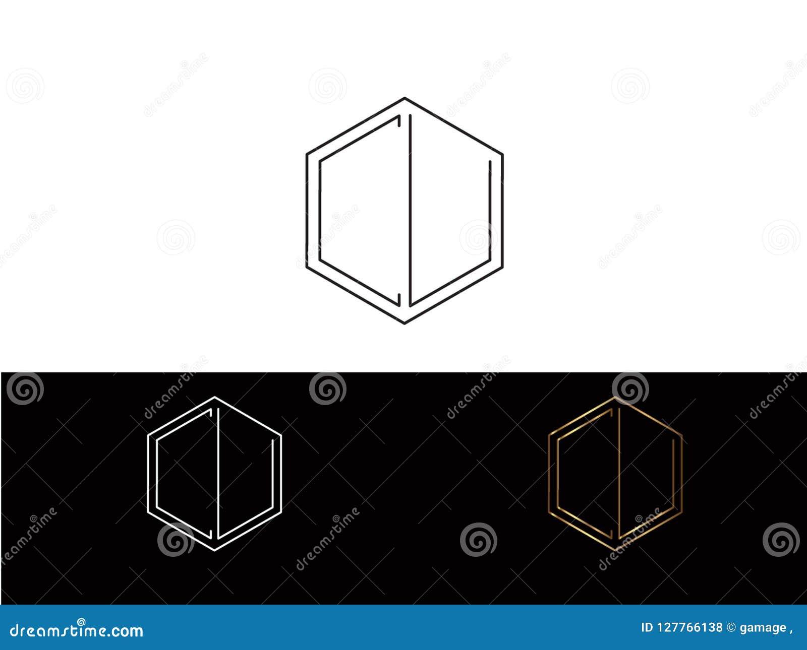 CU-Hexagonformbuchstabe-Vektordesign