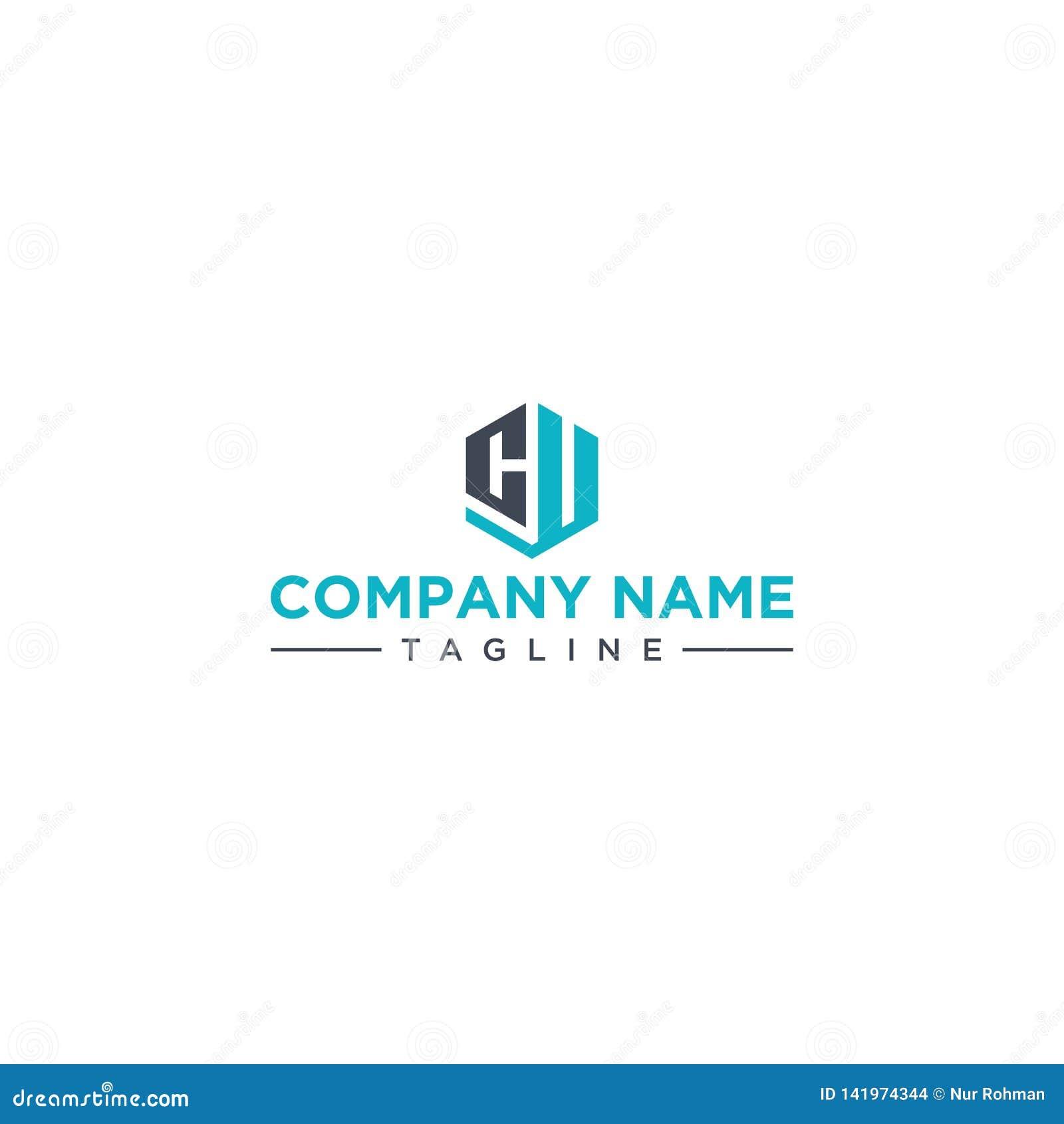 CU ikony sześciokąta listowy kształt
