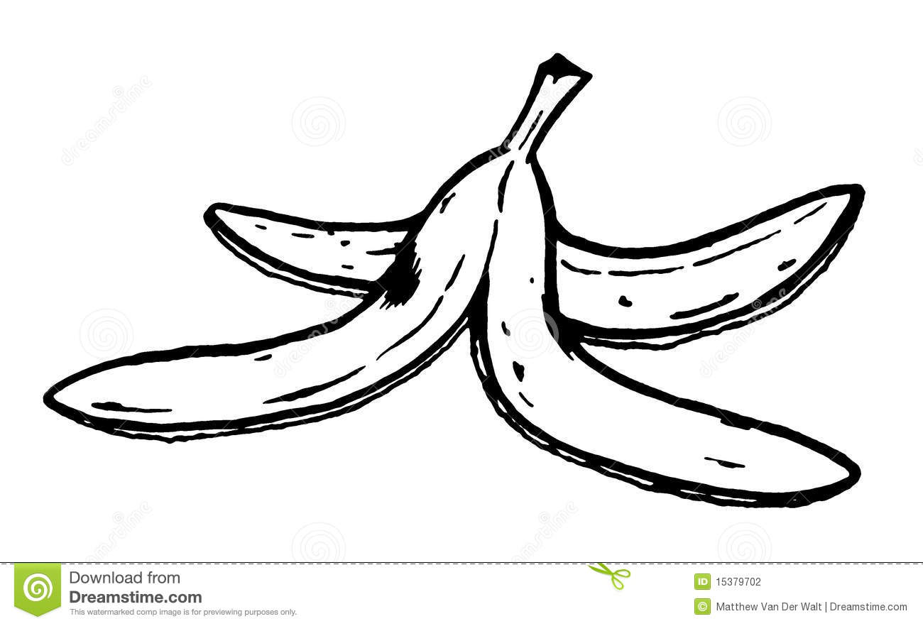 Holiday Coloring Pages Banana Page Cascara De Platano Colouring