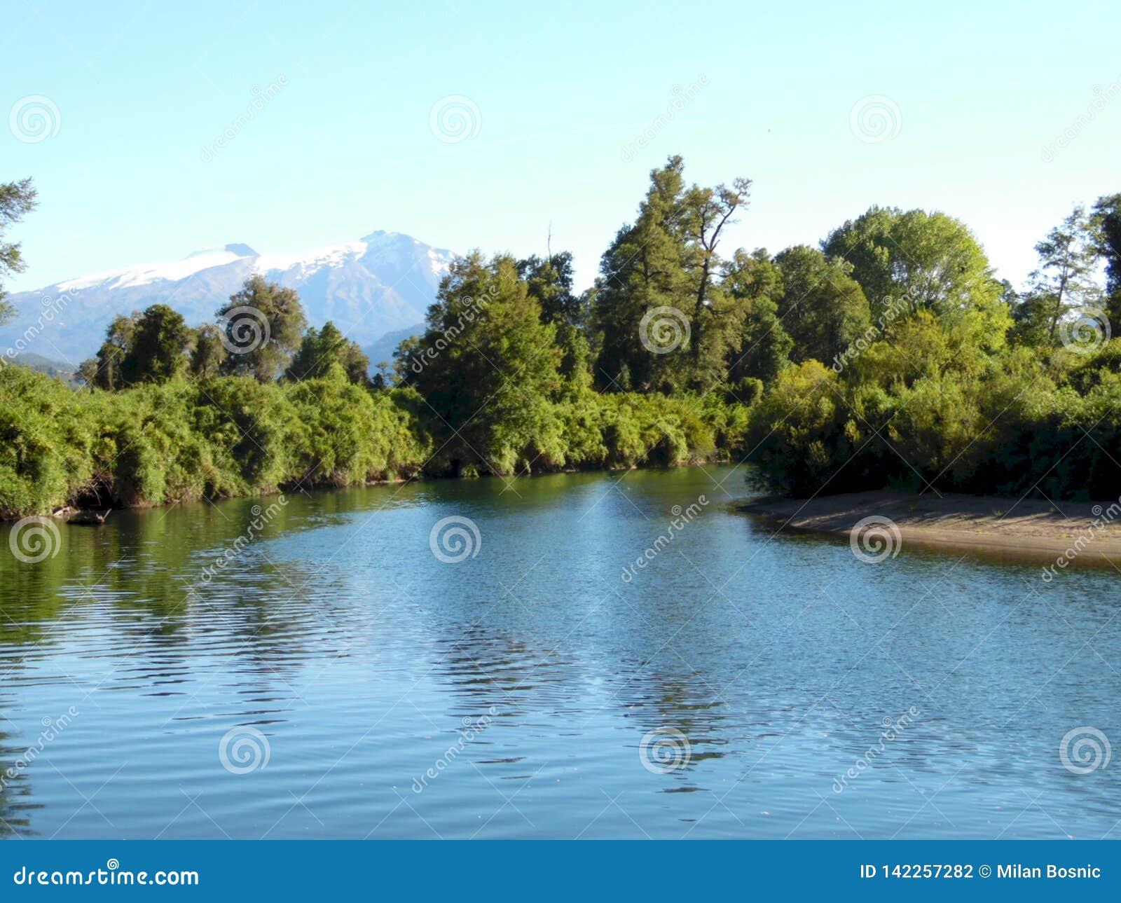 Cua Cua river in the south of Chile