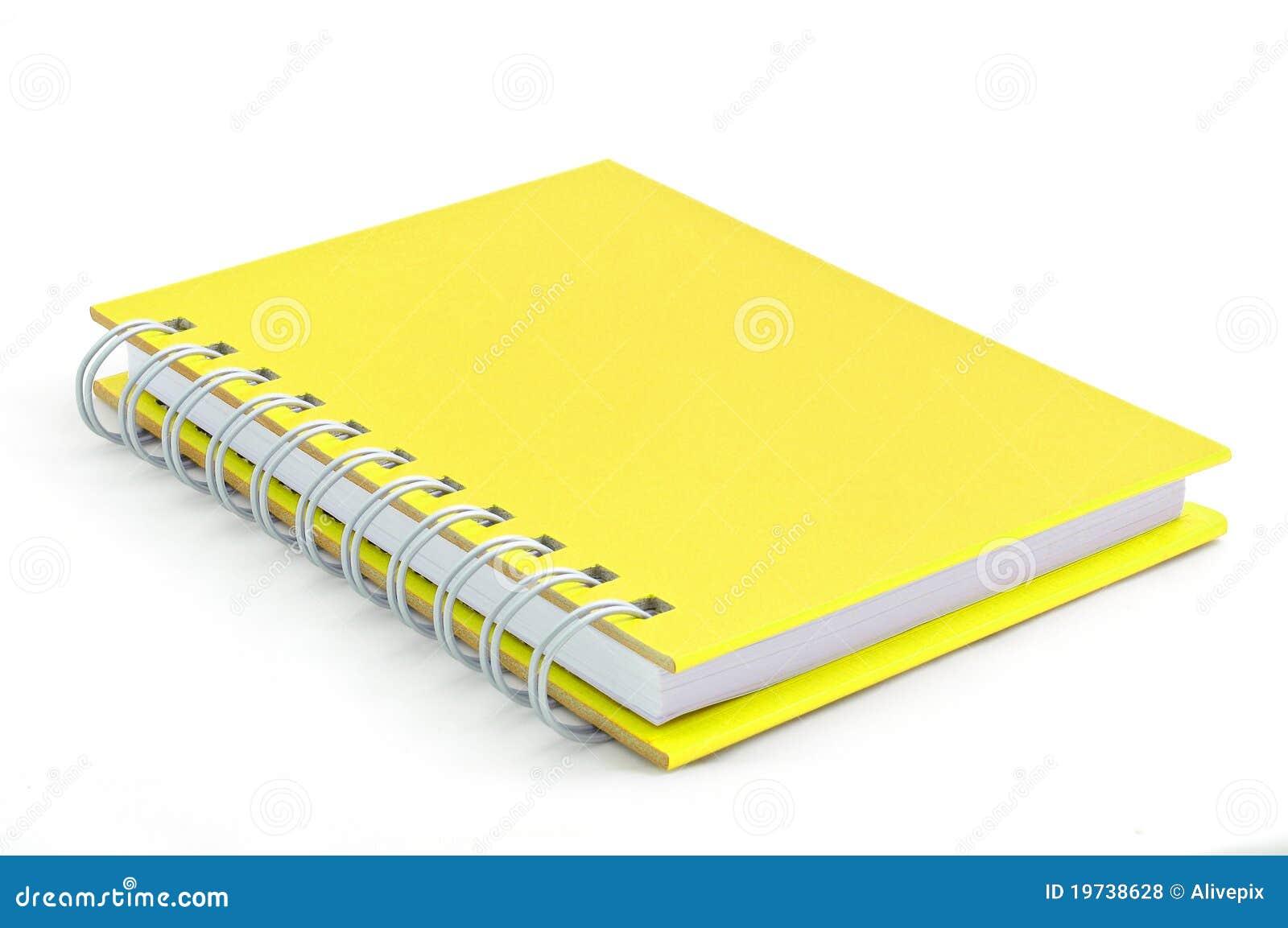 Cuaderno Amarillo Fotos de archivo libres de regalías - Imagen ...