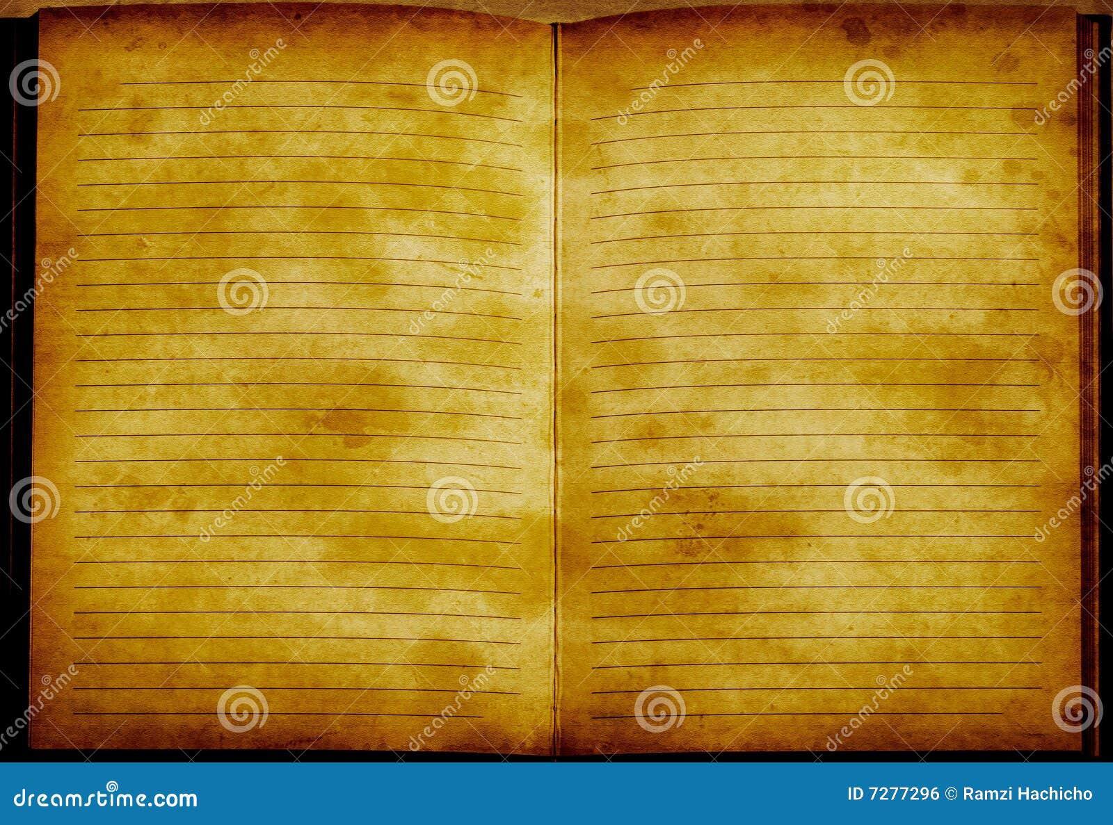 Cuaderno entonado de oro del vinage de Grunge
