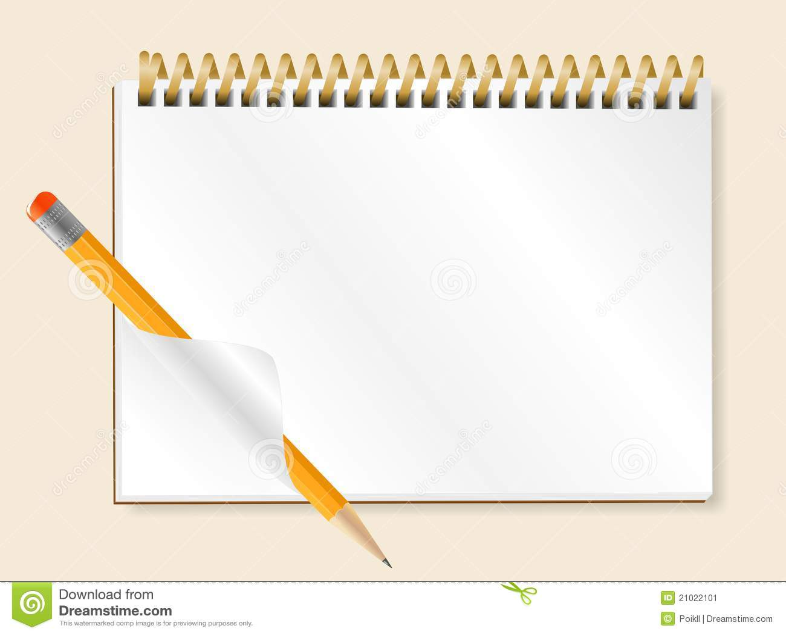 Libreta De Hojas Blancas De Dibujo Jpg By Gianferdinand: Cuaderno Espiral Imagen De Archivo