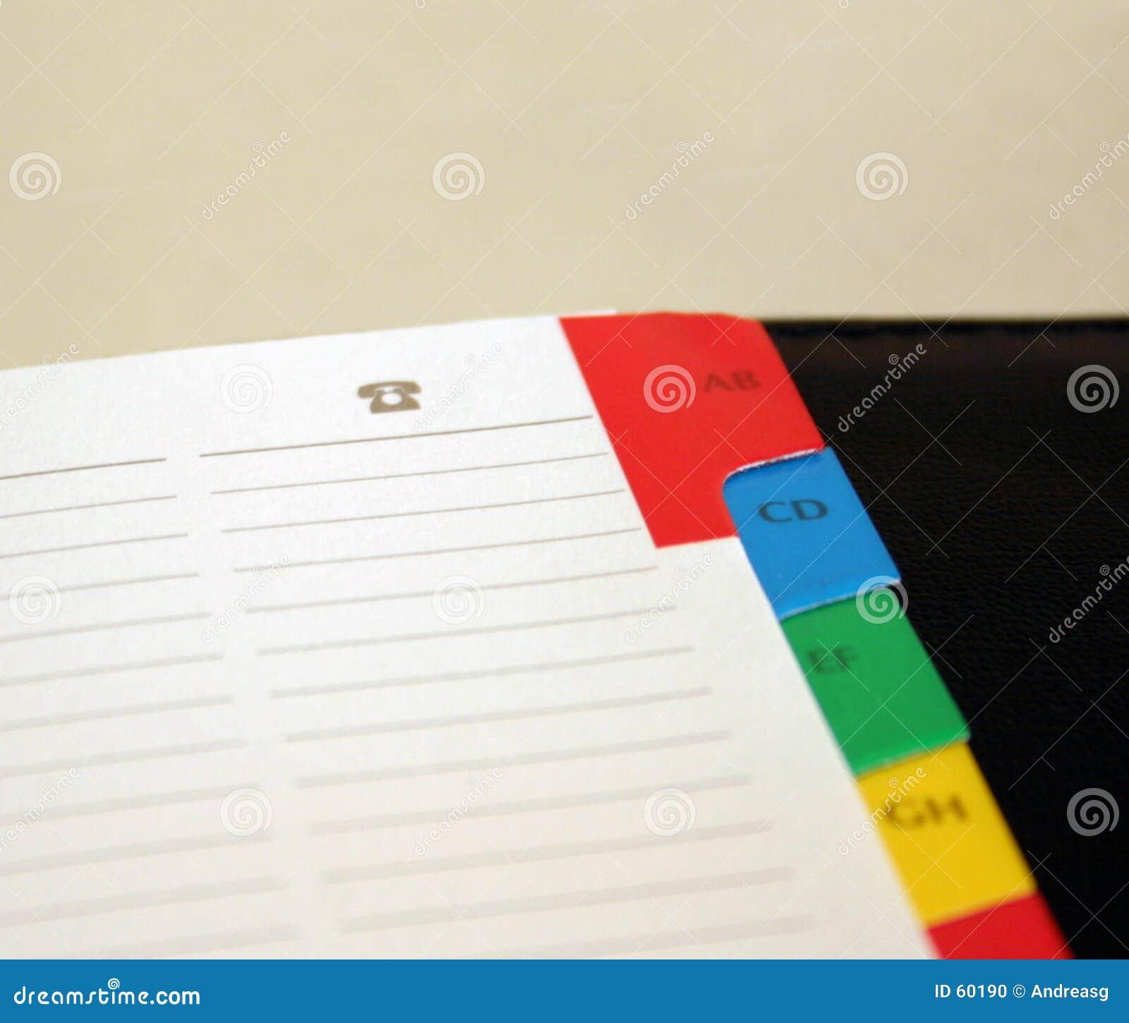 Cuaderno - teléfonos