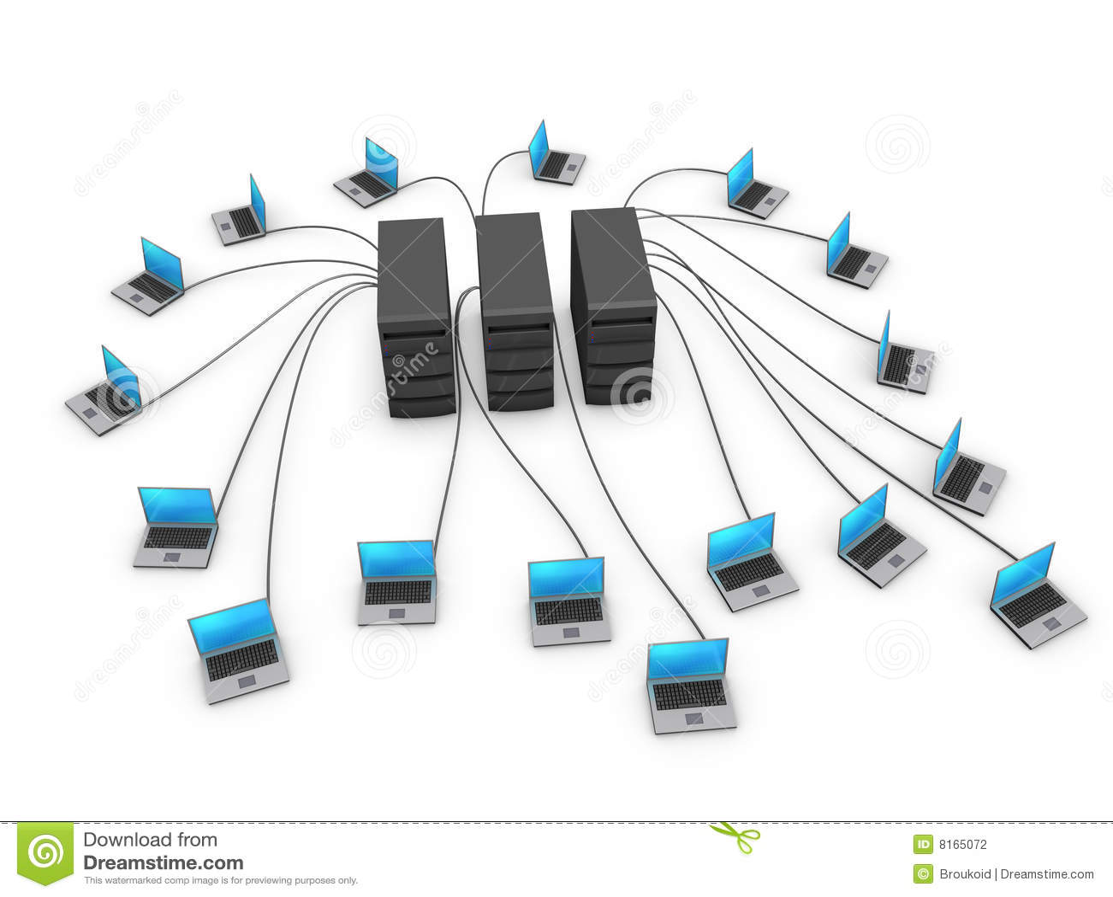 Cuadernos conectados con los servidores