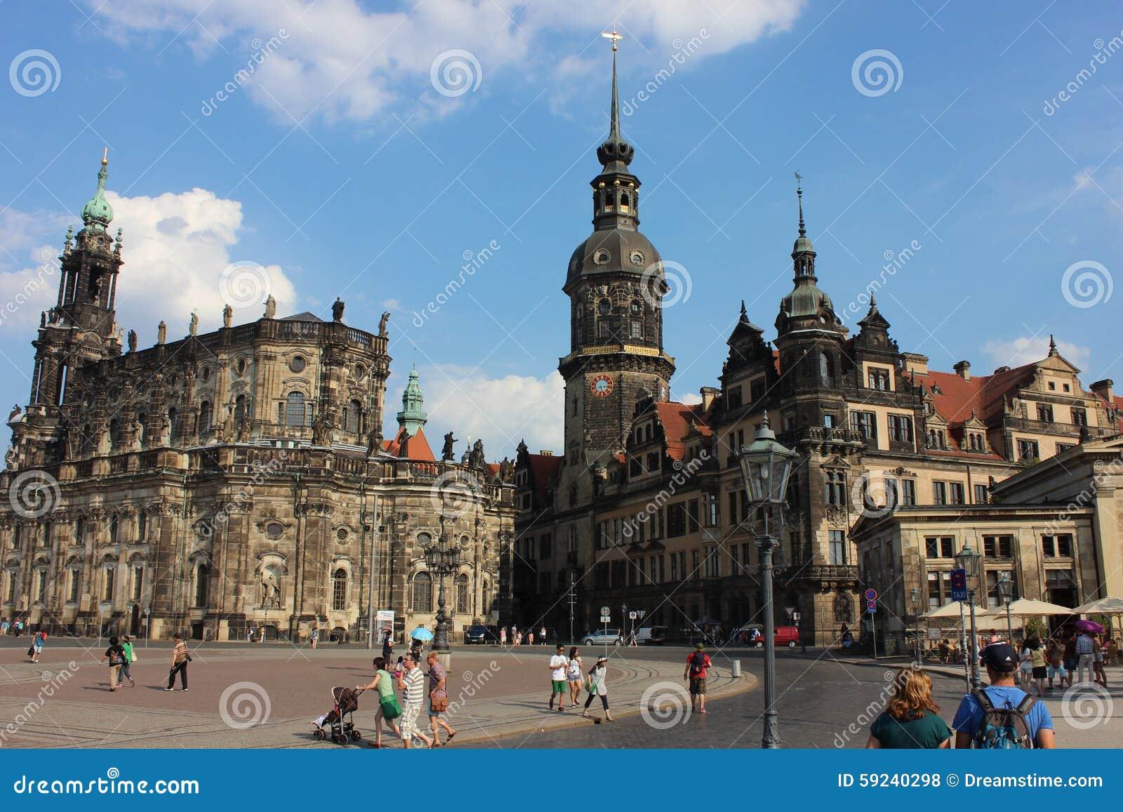Cuadrado de ciudad en Dresden, Alemania