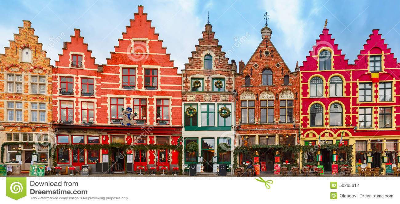 Cuadrado de Grote Markt de la Navidad de Brujas, Bélgica