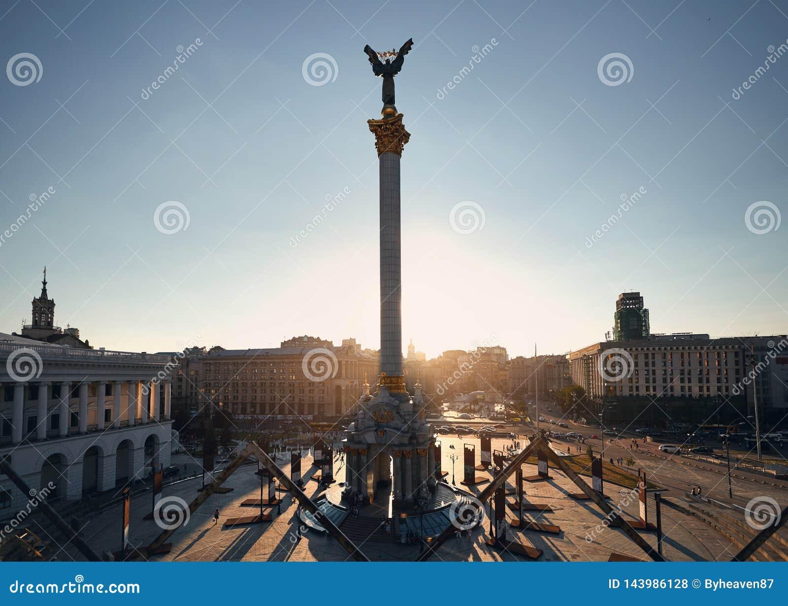 Cuadrado de la independencia en Kiev