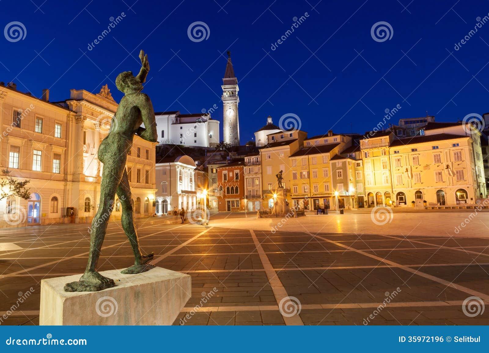 Cuadrado de Tartini en Piran, Eslovenia, Europa