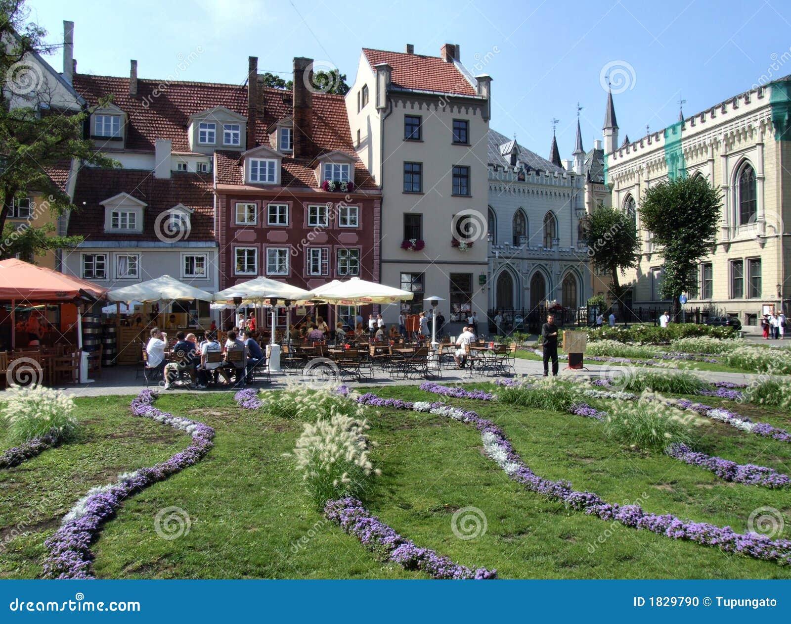 Cuadrado principal en Riga (Latvia)