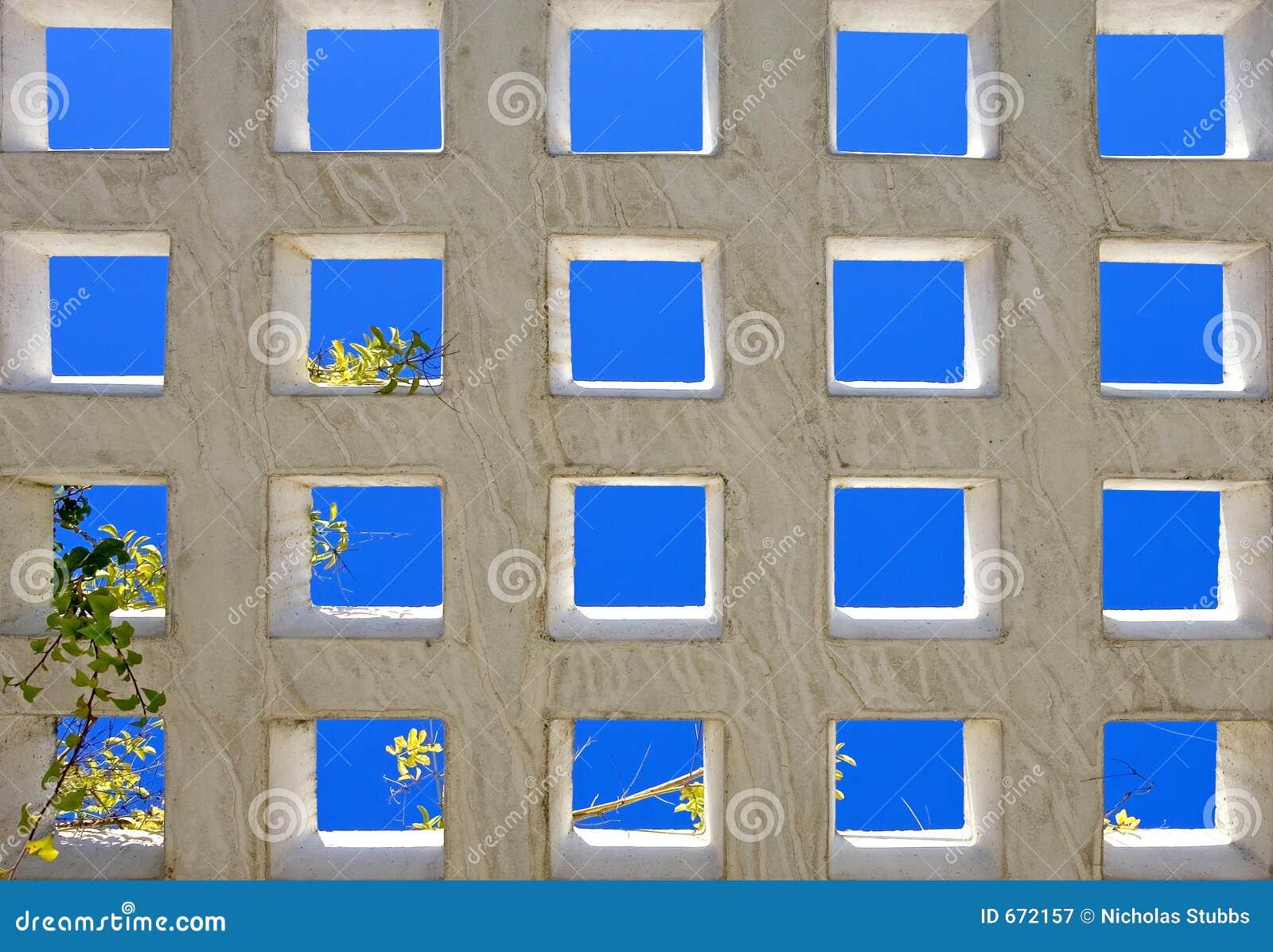 Cuadrados azules brillantes abstractos de la configuración moderna