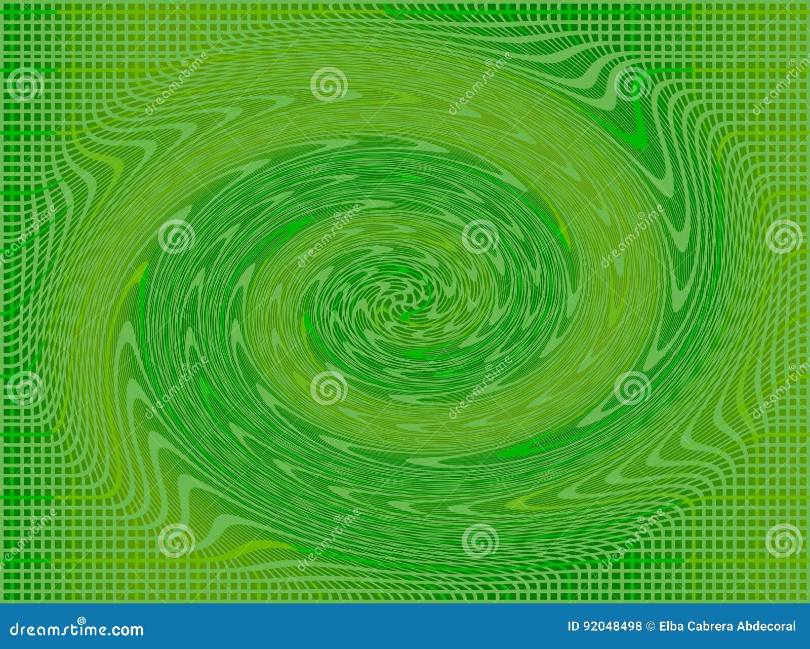 Cuadrados y chigre en verde y amarillo