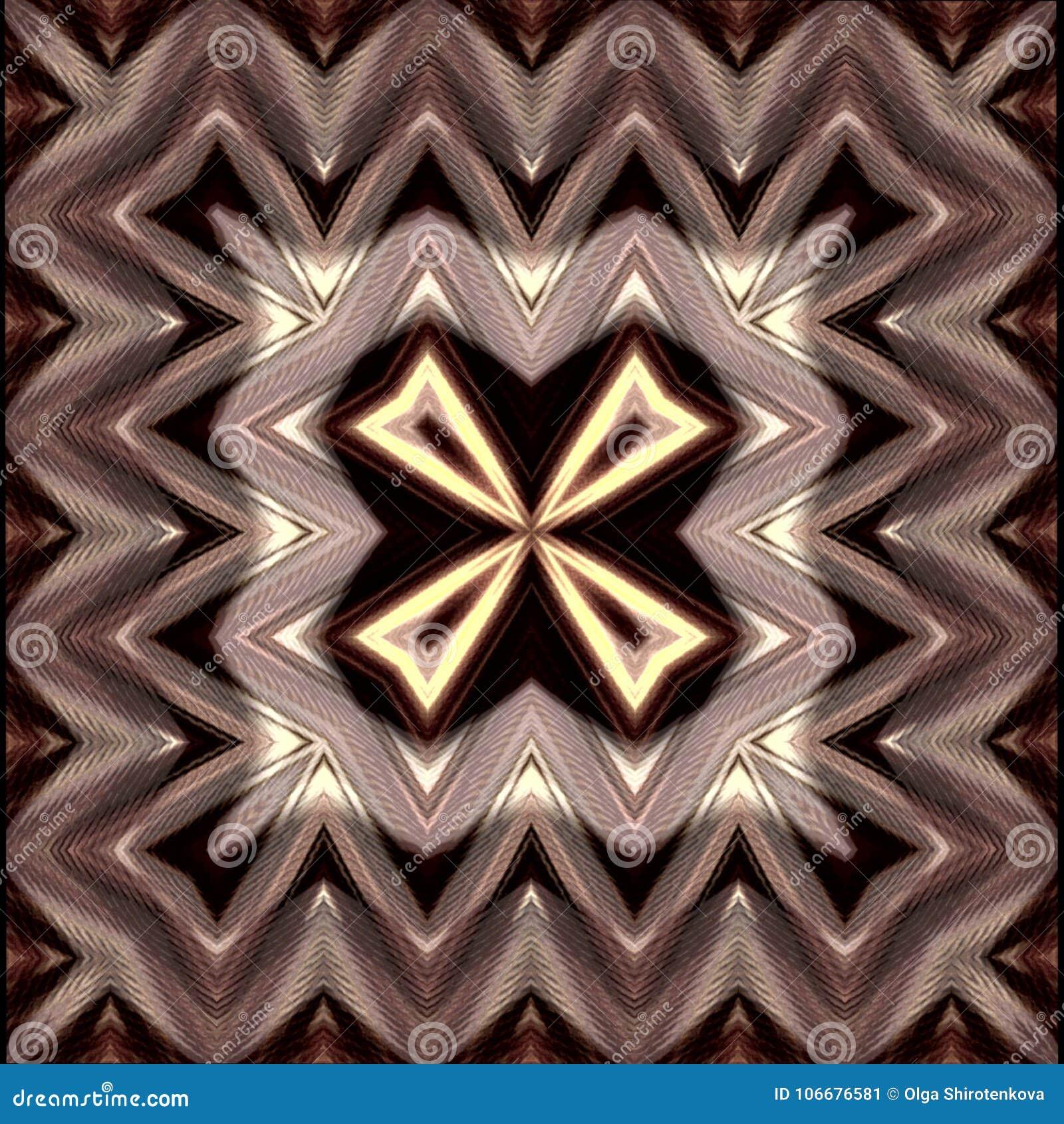 Cuadro Abstracto Trabajo Del S Del Autor Color De Brown Stock De