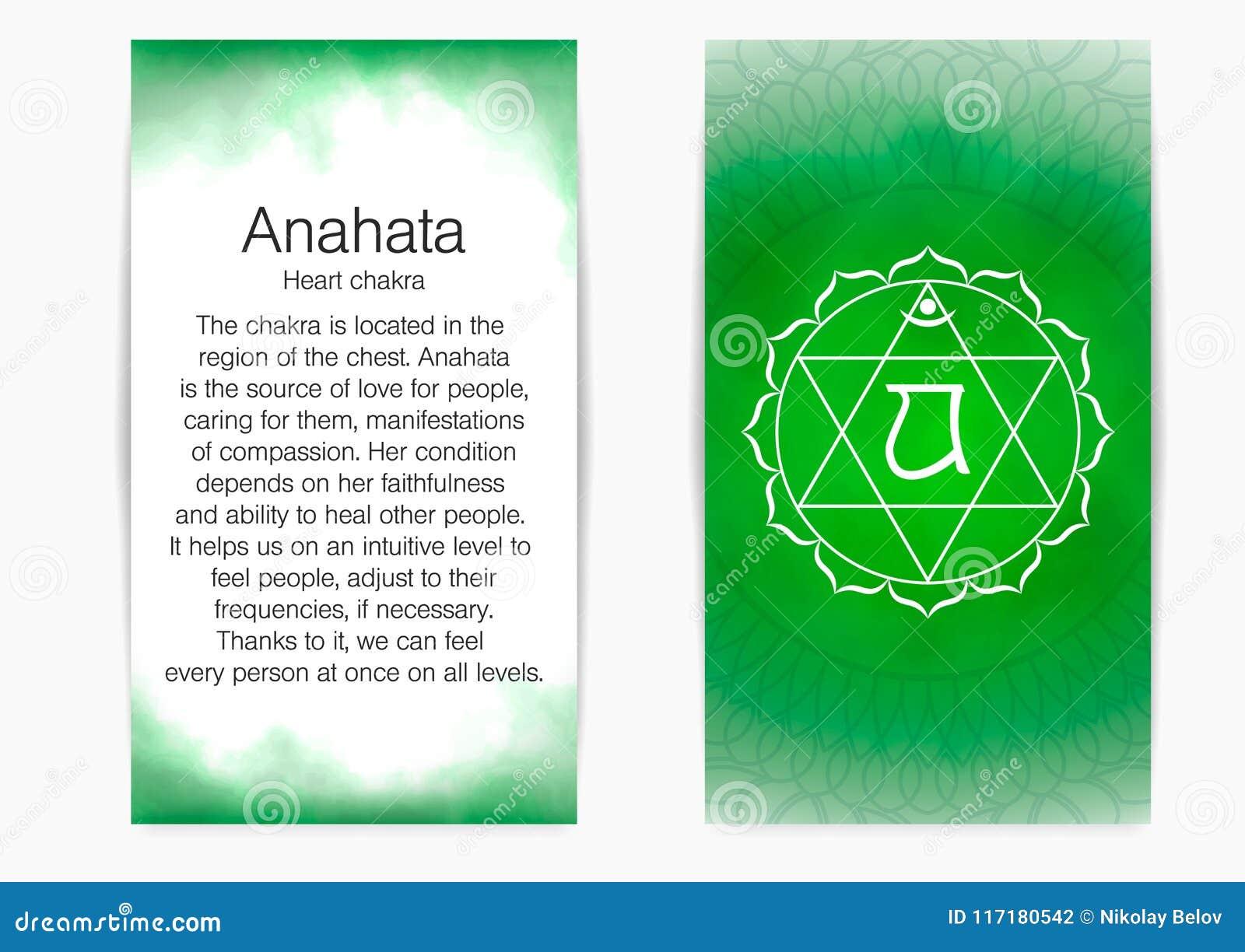 Cuarto, Chakra Del Corazón - Anahata Ilustración del Vector ...