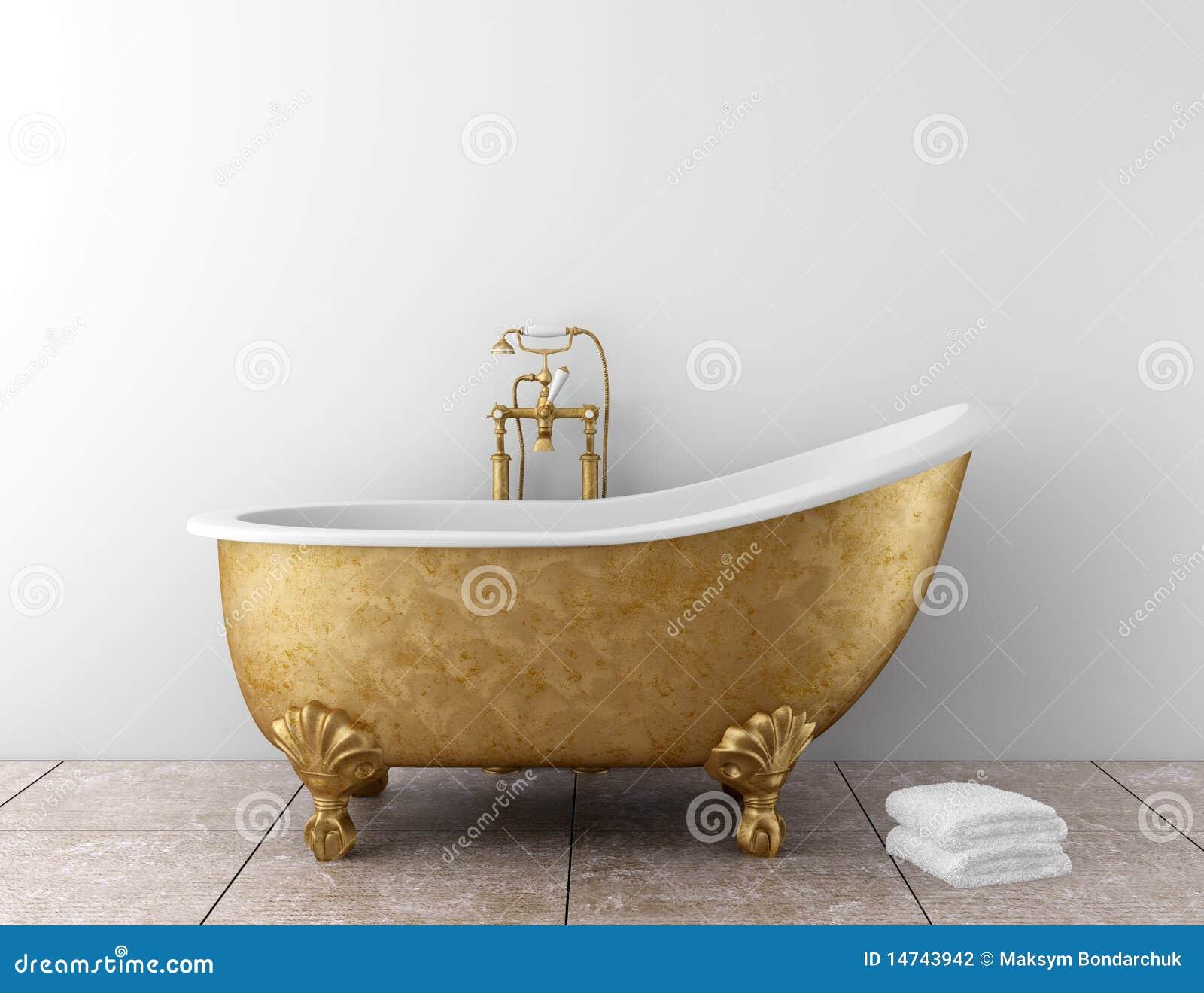Cuarto de baño clásico con la bañera vieja