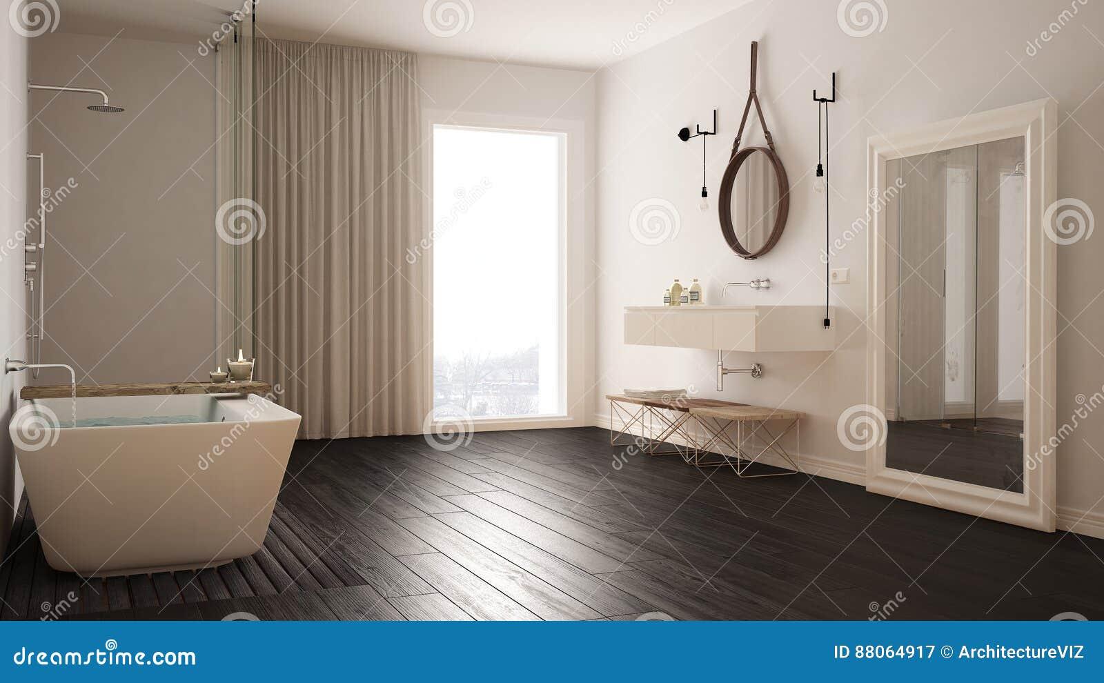 Cuarto De Baño Clásico, Diseño Interior Minimalistic Moderno Imagen ...