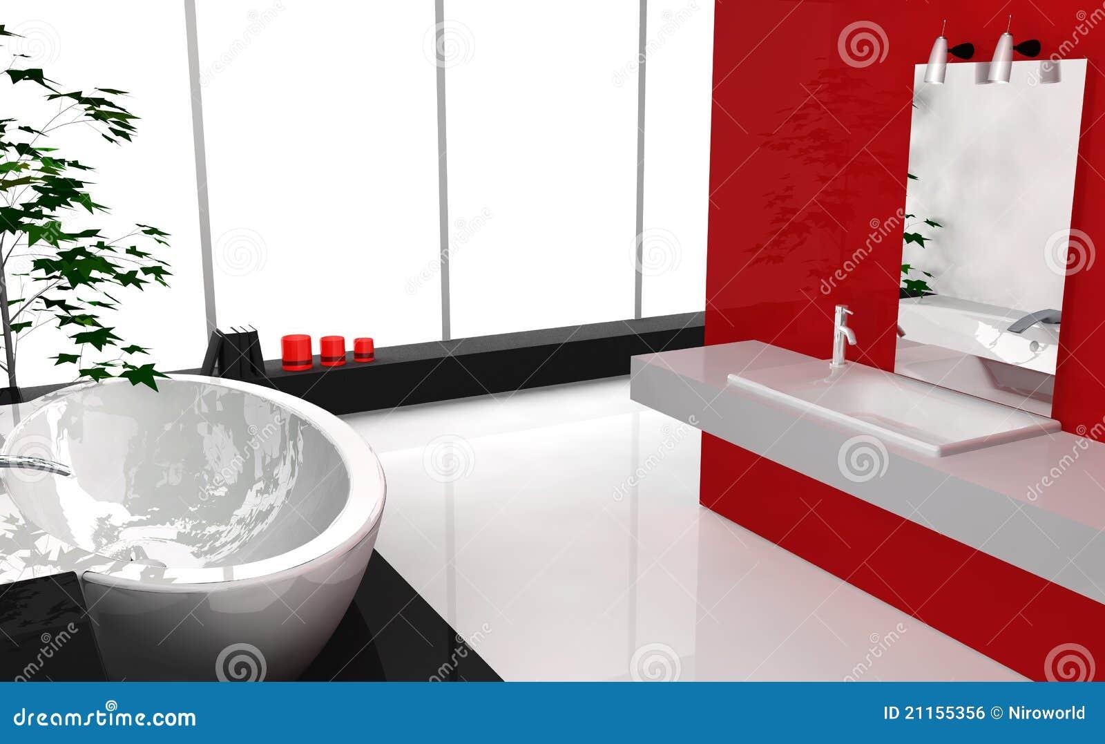 Baño De Lujo Moderno:Cuarto De Baño De Lujo Moderno Imagen de archivo libre de regalías